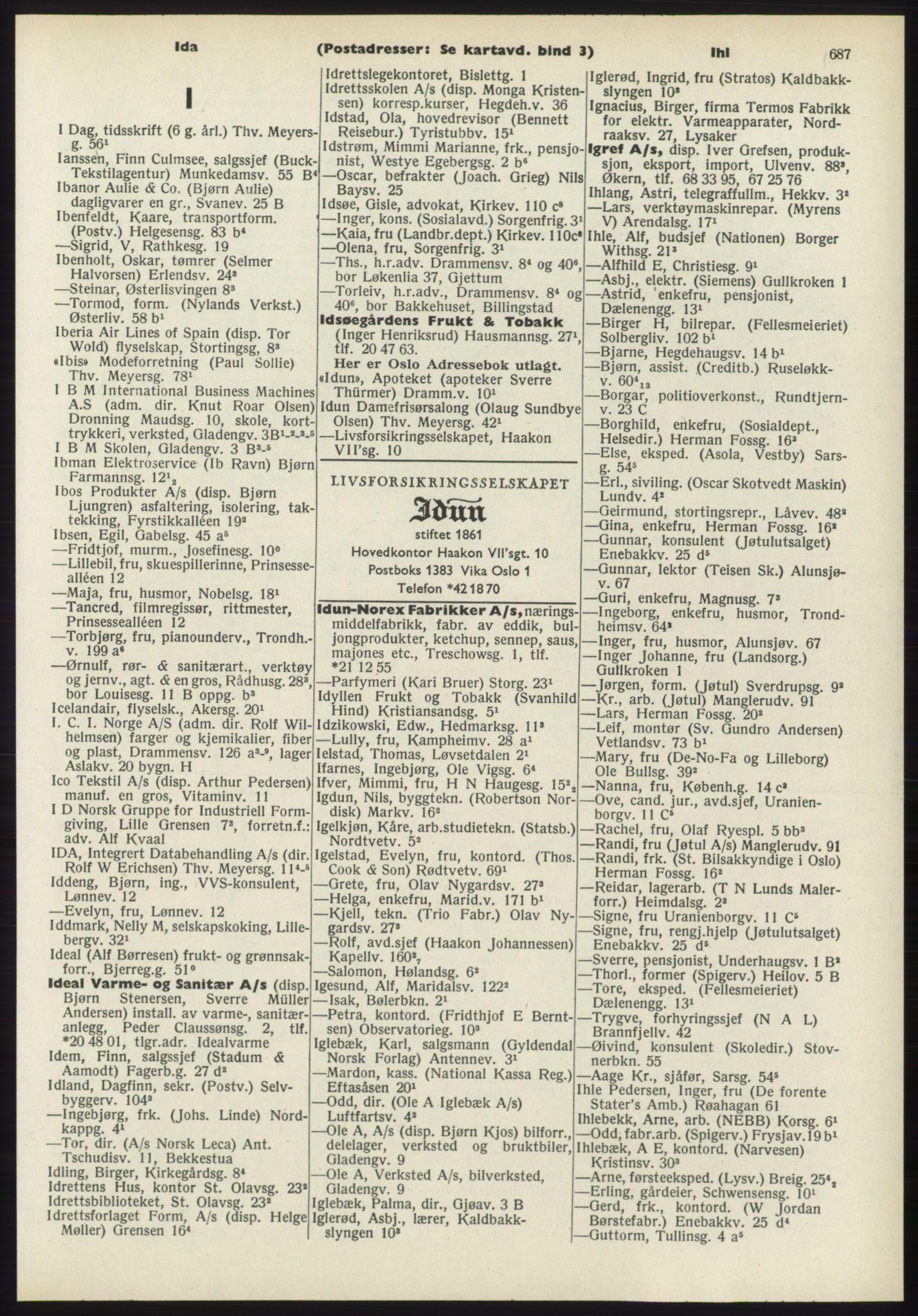 PUBL, Kristiania/Oslo adressebok, 1970-1971, s. 687