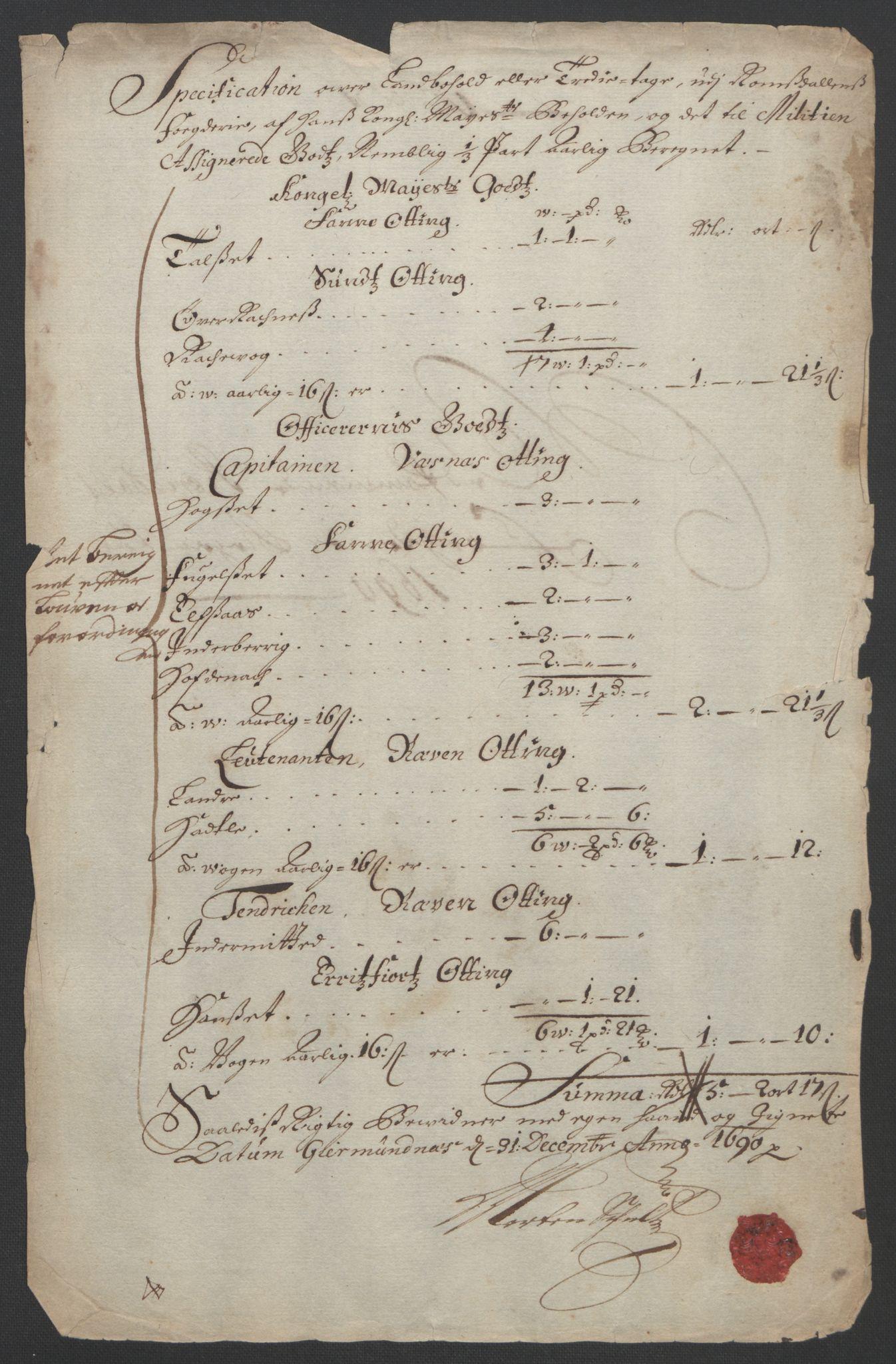 RA, Rentekammeret inntil 1814, Reviderte regnskaper, Fogderegnskap, R55/L3649: Fogderegnskap Romsdal, 1690-1691, s. 151