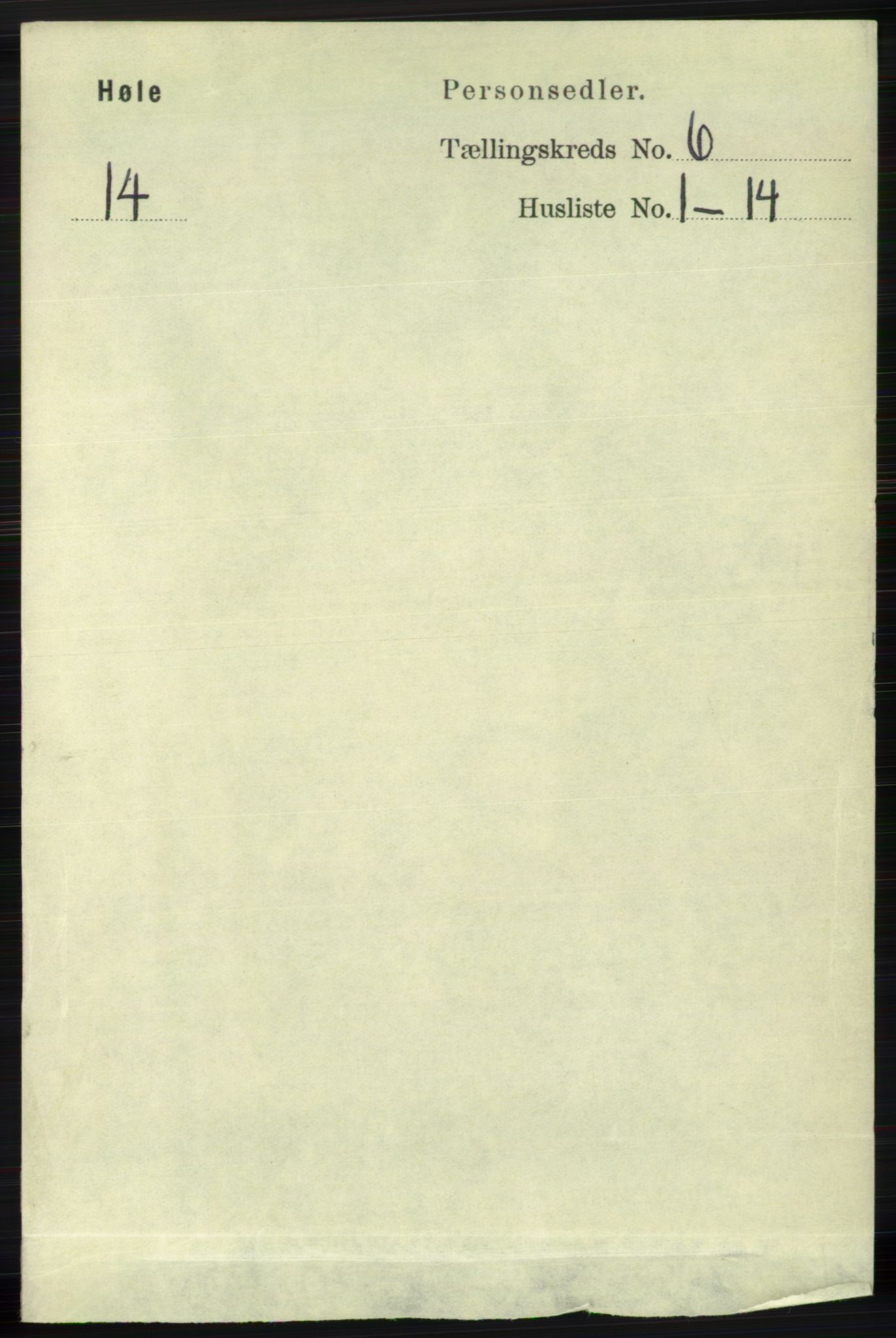 RA, Folketelling 1891 for 1128 Høle herred, 1891, s. 1291