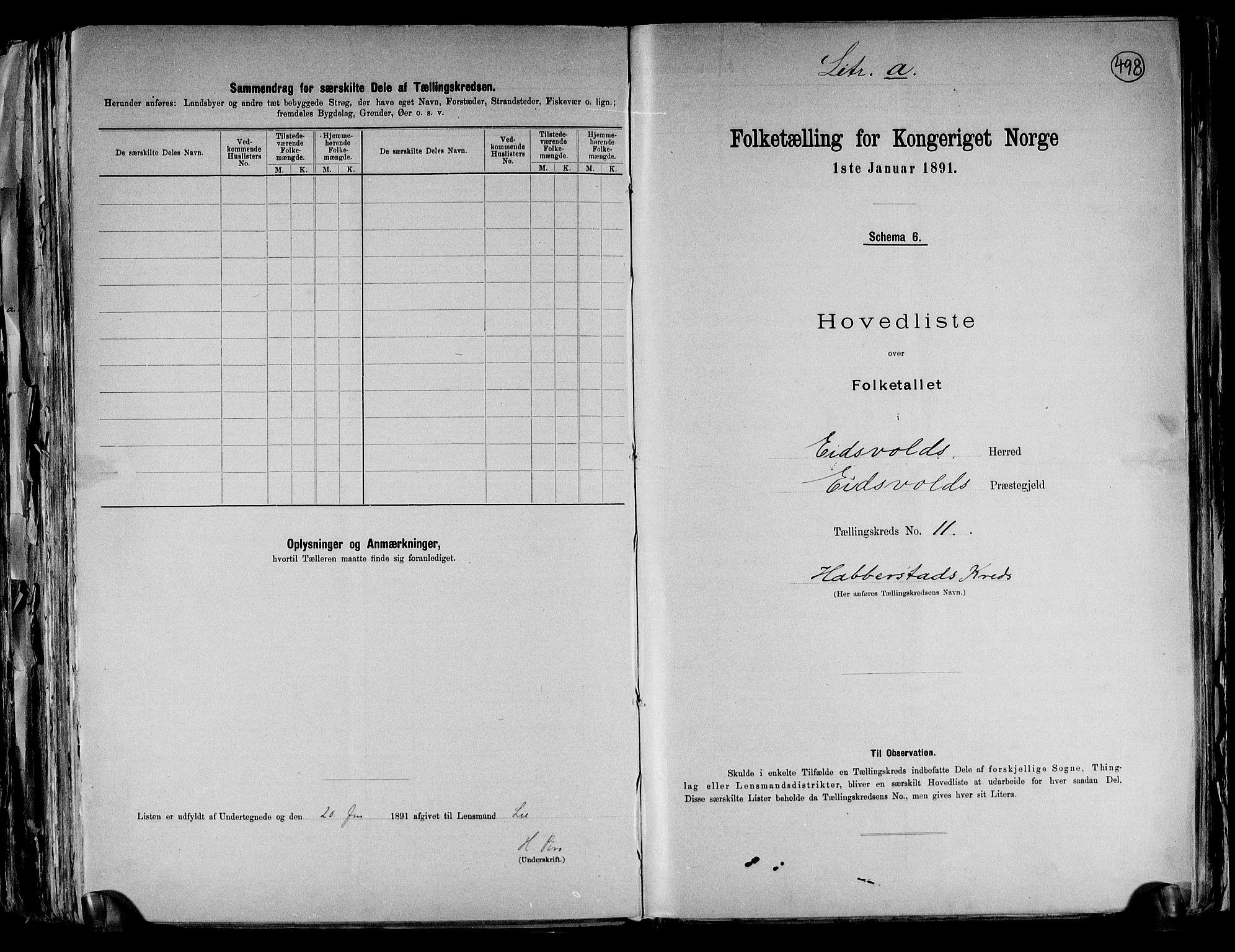 RA, Folketelling 1891 for 0237 Eidsvoll herred, 1891, s. 35