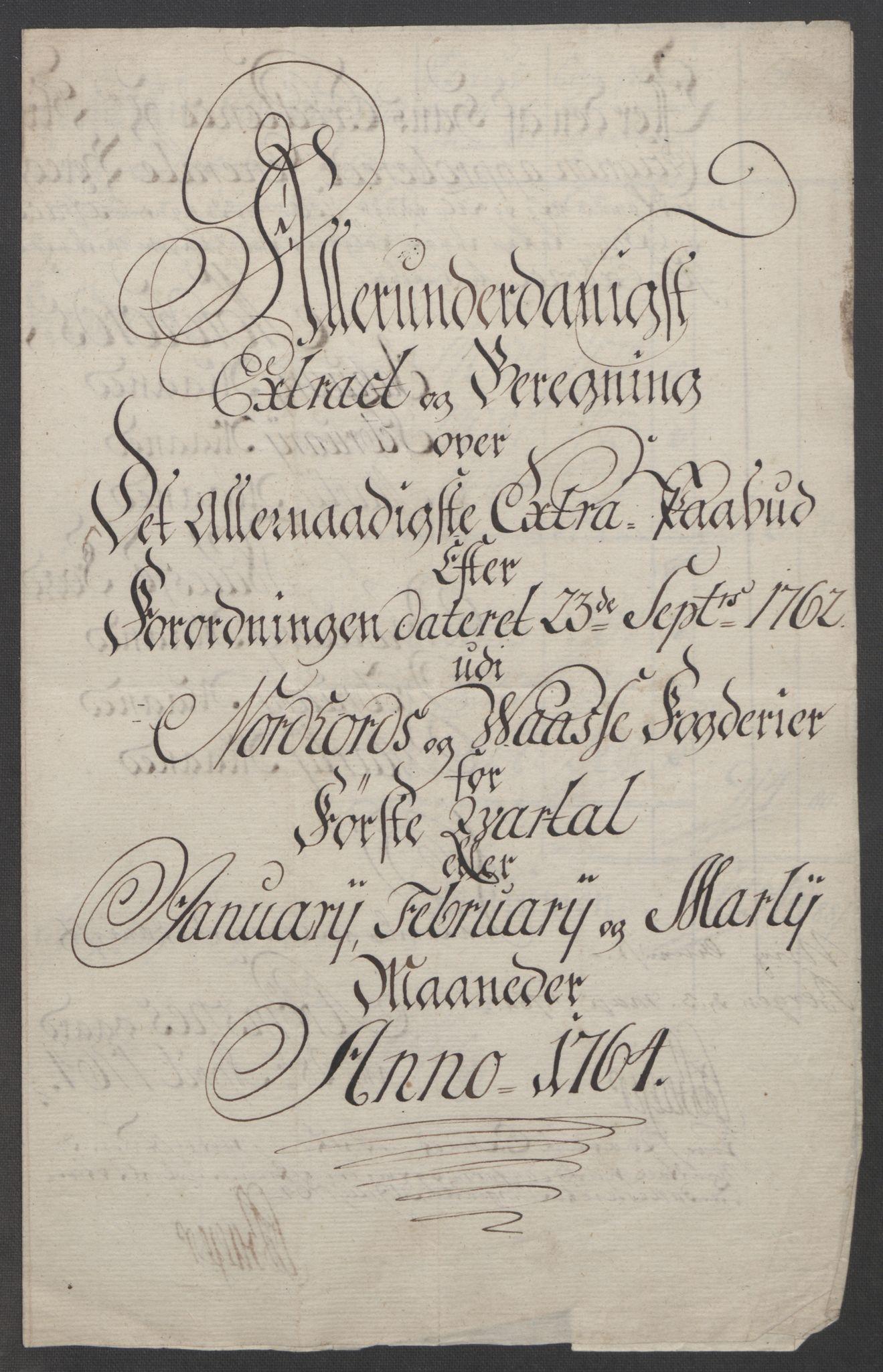 RA, Rentekammeret inntil 1814, Reviderte regnskaper, Fogderegnskap, R51/L3303: Ekstraskatten Nordhordland og Voss, 1762-1772, s. 79