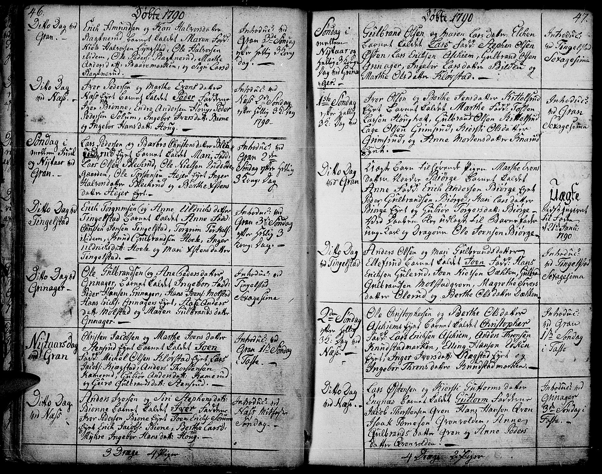 SAH, Gran prestekontor, Ministerialbok nr. 6, 1787-1824, s. 46-47