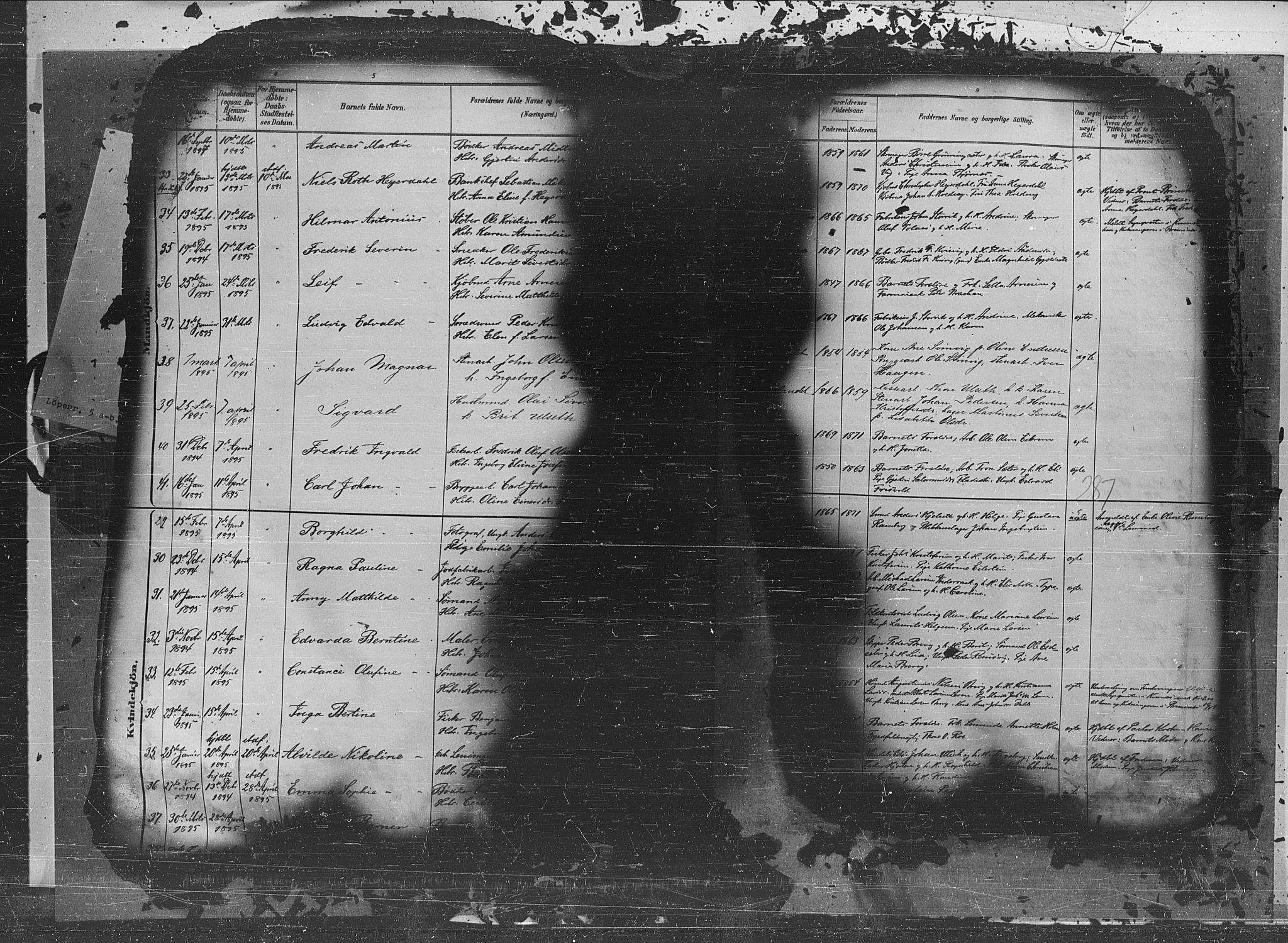 SAT, Ministerialprotokoller, klokkerbøker og fødselsregistre - Møre og Romsdal, 572/L0851: Ministerialbok nr. 572A14, 1880-1897, s. 287