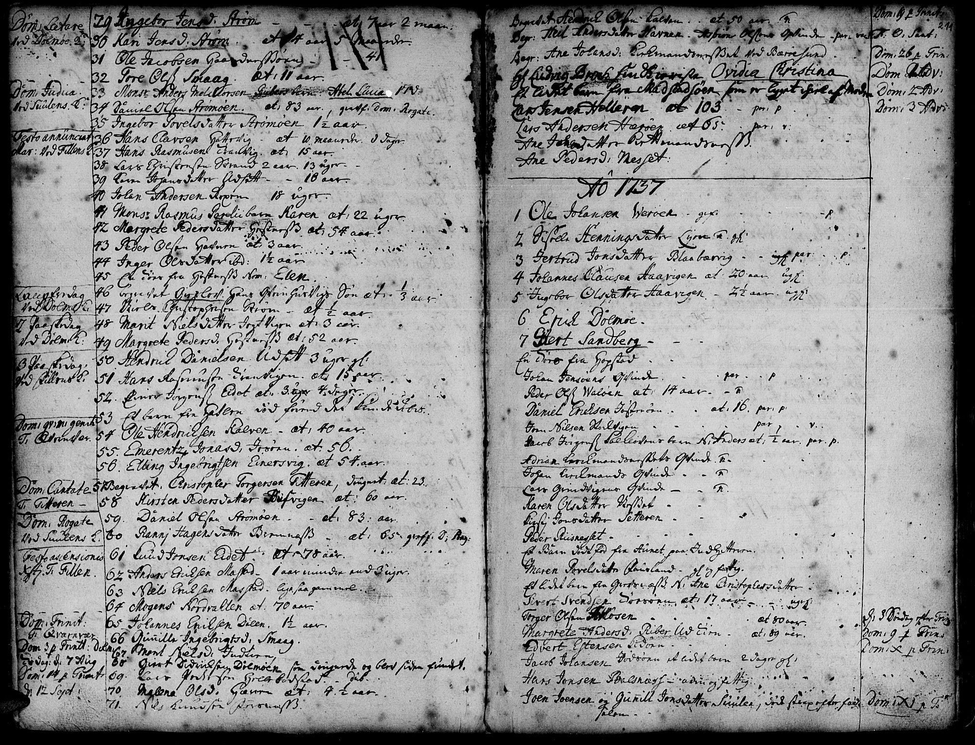 SAT, Ministerialprotokoller, klokkerbøker og fødselsregistre - Sør-Trøndelag, 634/L0525: Ministerialbok nr. 634A01, 1736-1775, s. 211