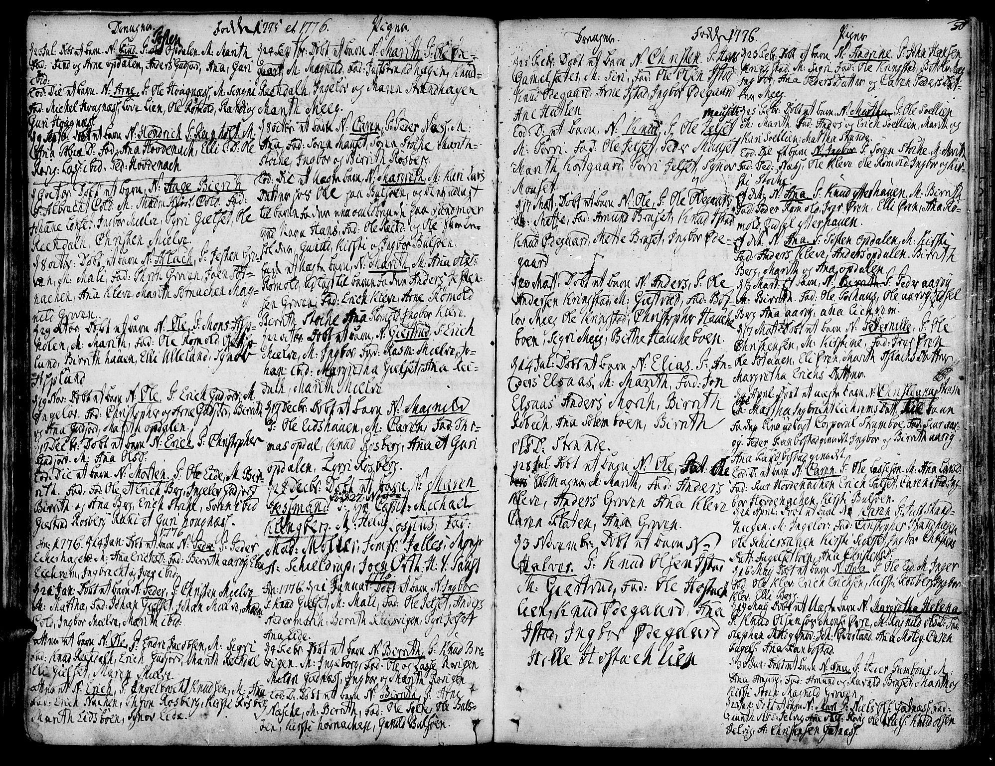 SAT, Ministerialprotokoller, klokkerbøker og fødselsregistre - Møre og Romsdal, 555/L0648: Ministerialbok nr. 555A01, 1759-1793, s. 50