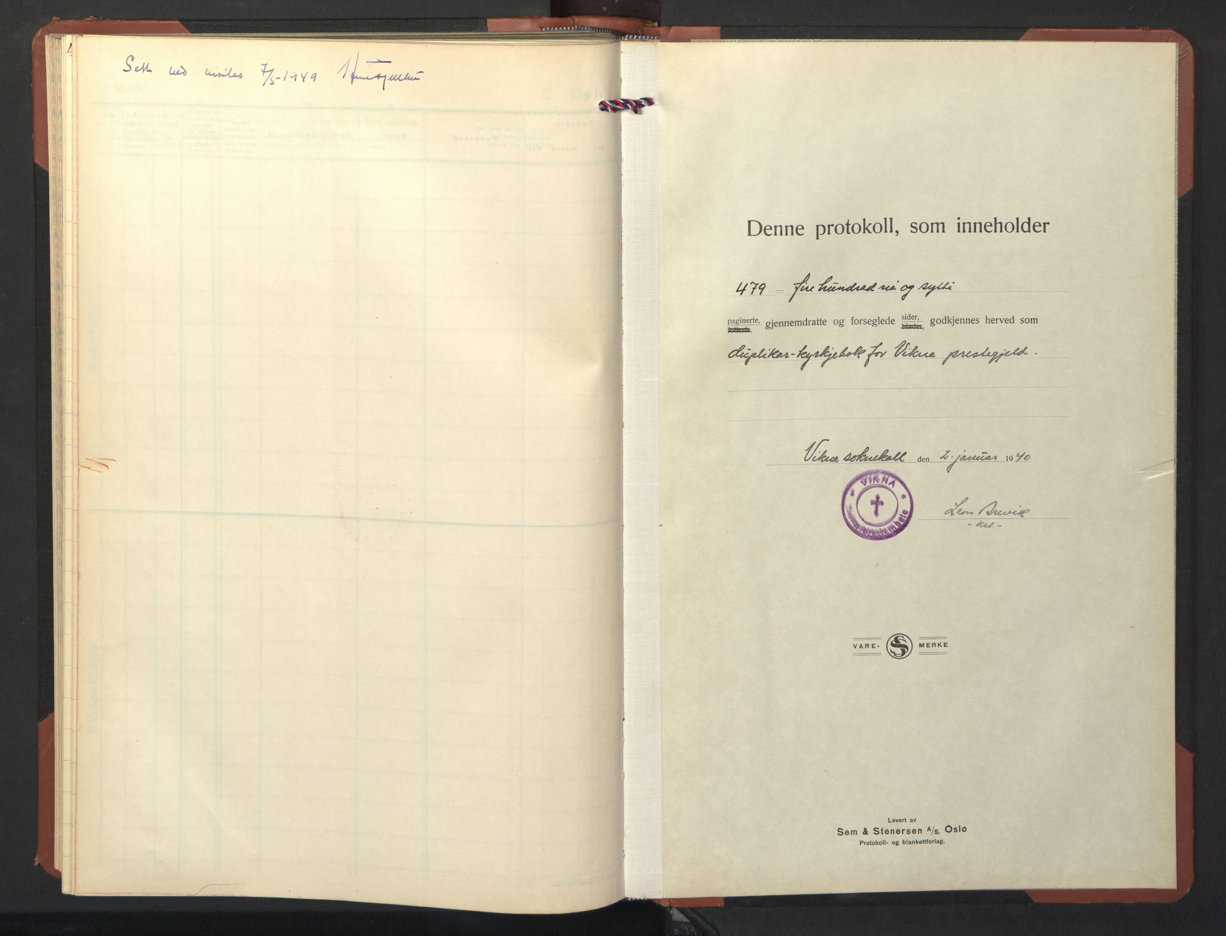 SAT, Ministerialprotokoller, klokkerbøker og fødselsregistre - Nord-Trøndelag, 786/L0689: Klokkerbok nr. 786C01, 1940-1948