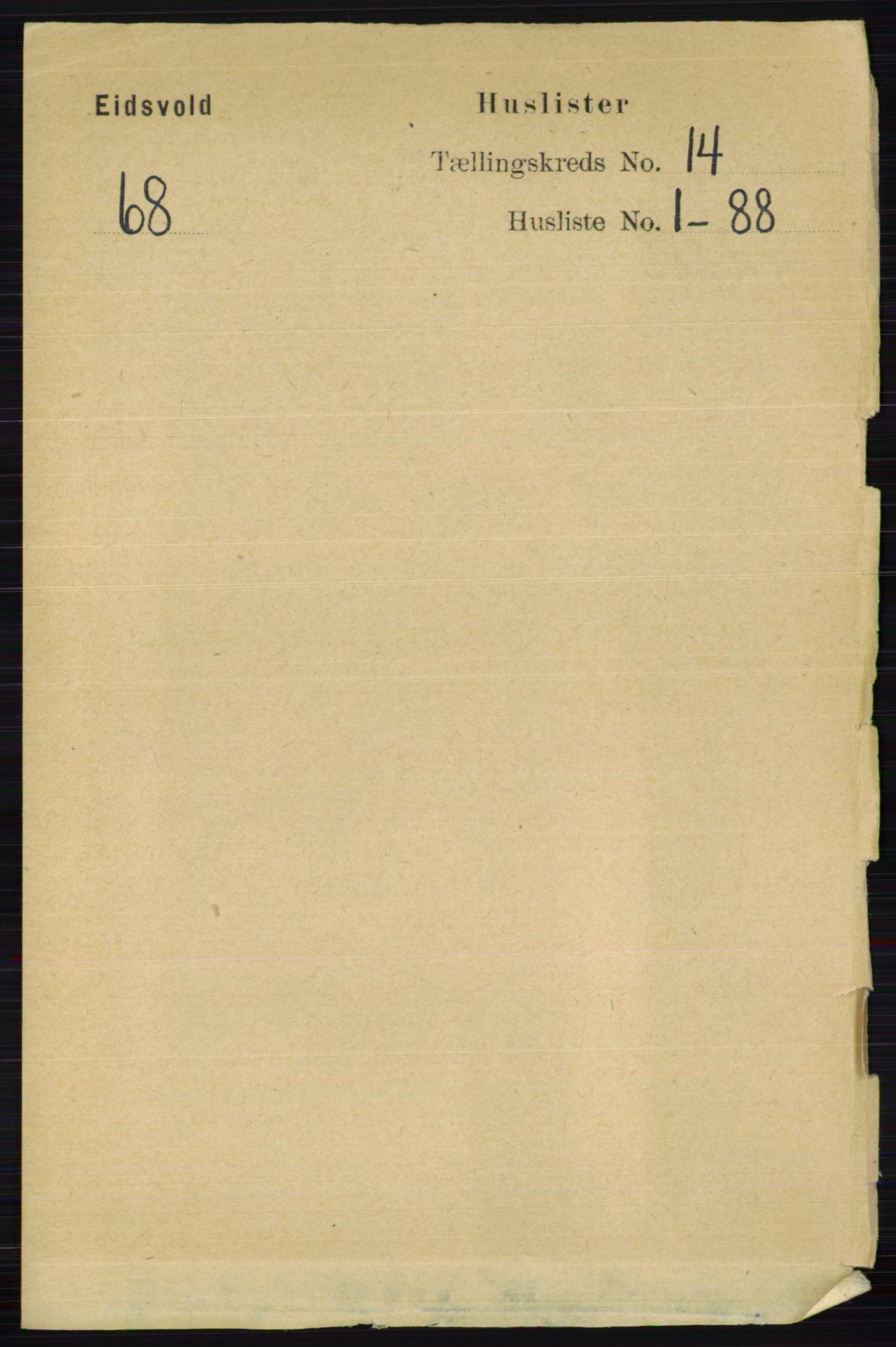 RA, Folketelling 1891 for 0237 Eidsvoll herred, 1891, s. 9338