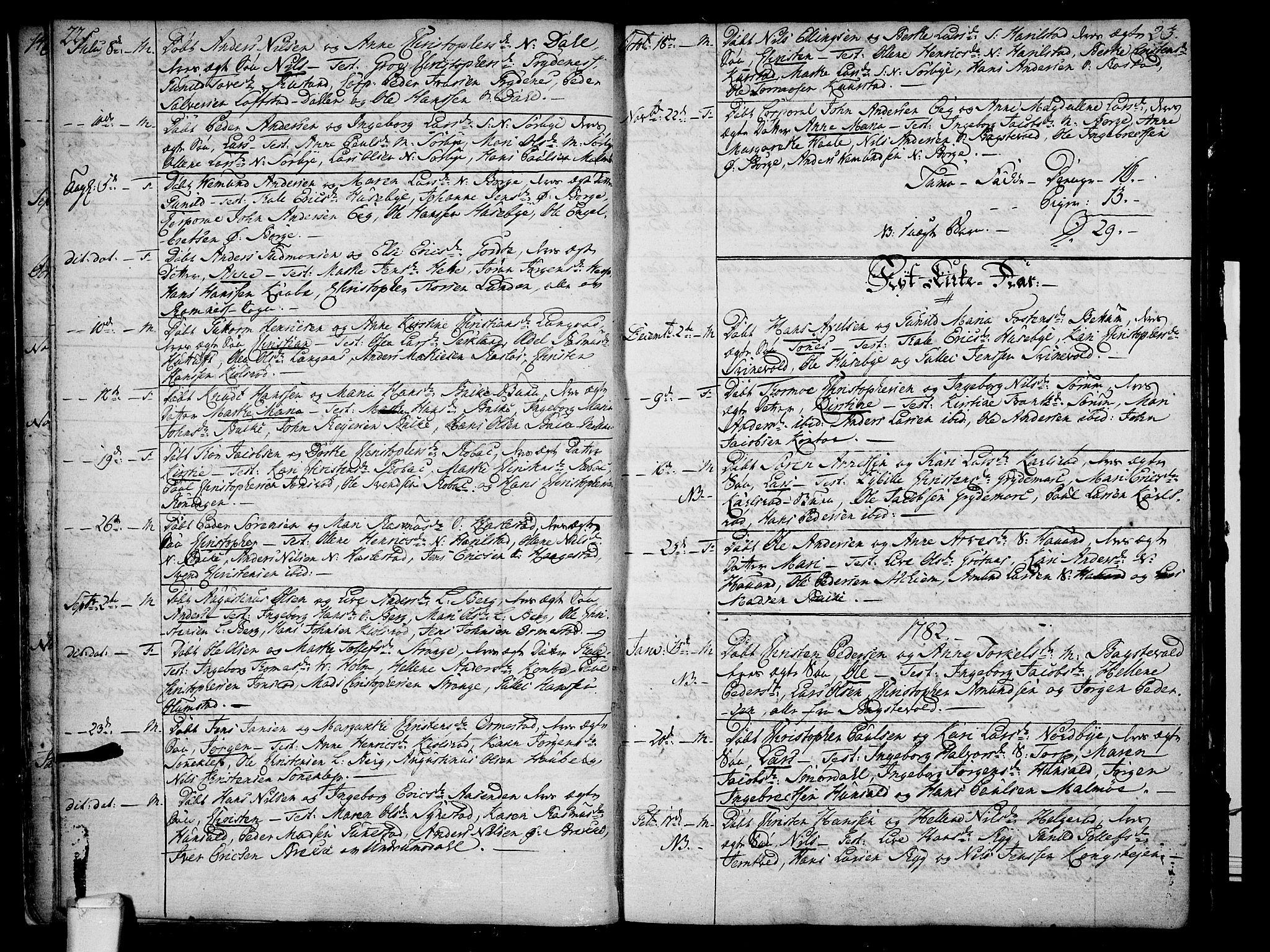 SAKO, Våle kirkebøker, F/Fa/L0005: Ministerialbok nr. I 5, 1773-1808, s. 22-23