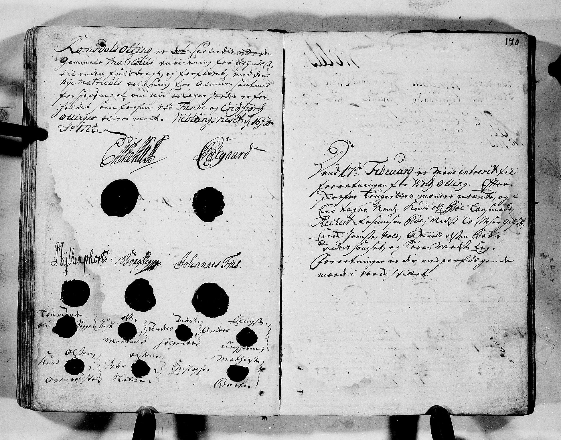 RA, Rentekammeret inntil 1814, Realistisk ordnet avdeling, N/Nb/Nbf/L0152: Romsdal eksaminasjonsprotokoll, 1724, s. 139b-140a