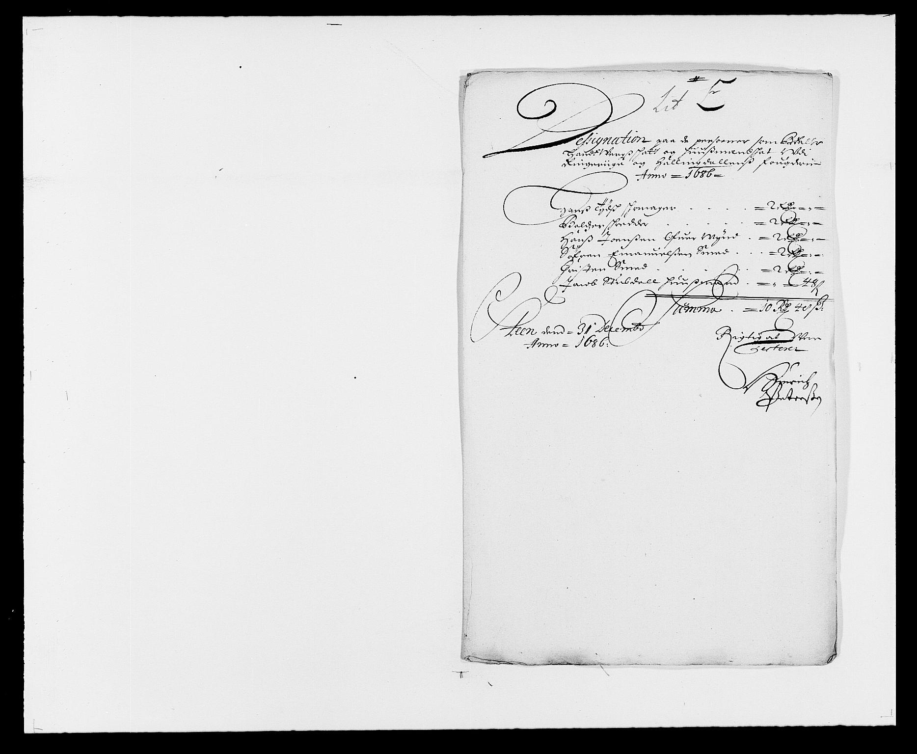 RA, Rentekammeret inntil 1814, Reviderte regnskaper, Fogderegnskap, R21/L1446: Fogderegnskap Ringerike og Hallingdal, 1683-1686, s. 470