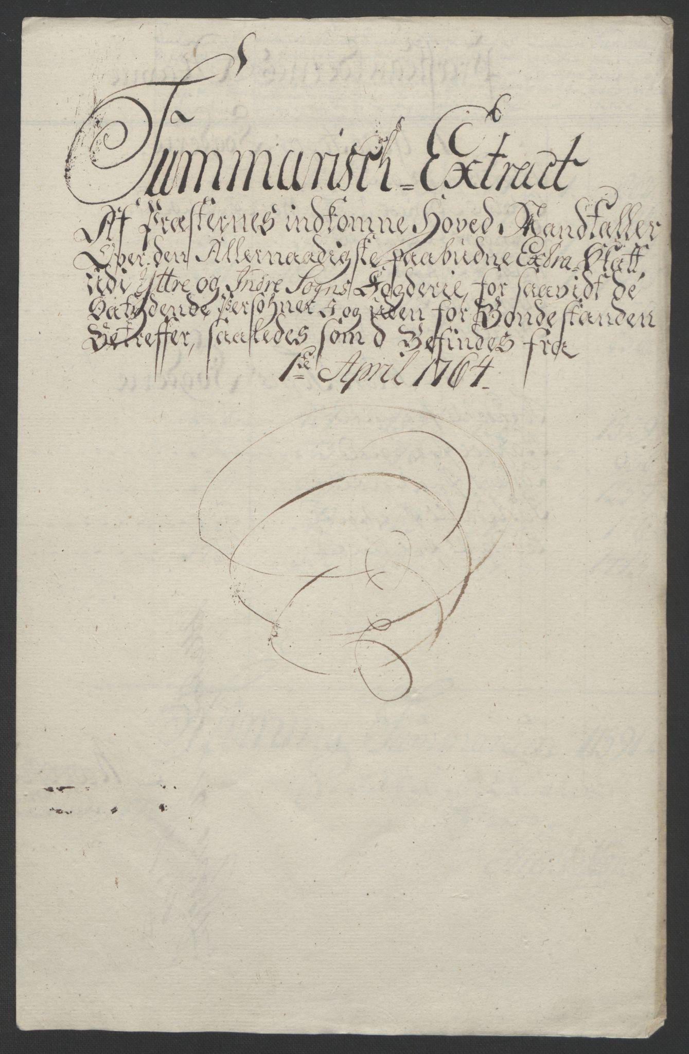 RA, Rentekammeret inntil 1814, Realistisk ordnet avdeling, Ol/L0018: [Gg 10]: Ekstraskatten, 23.09.1762. Sogn, 1762-1772, s. 96