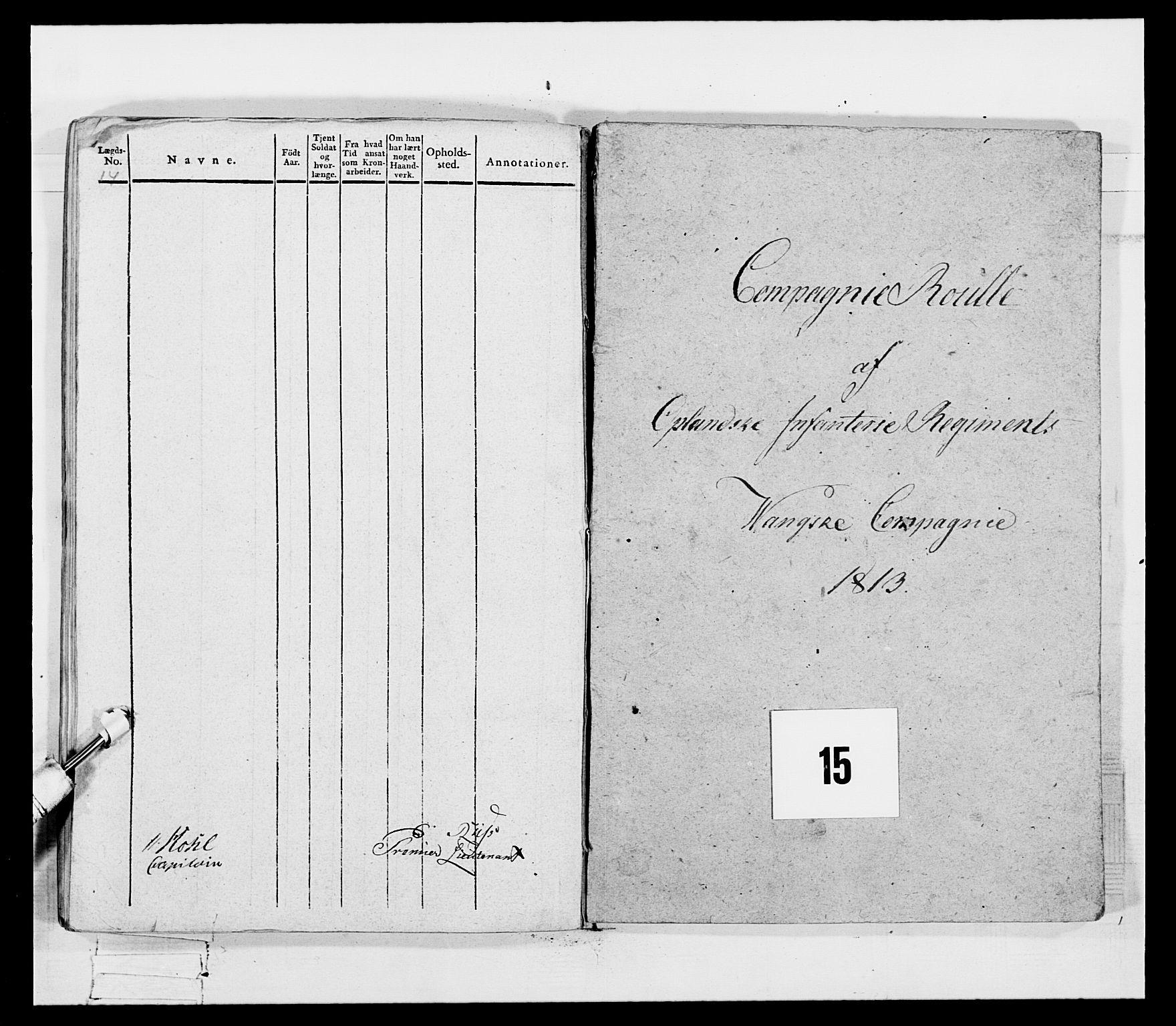 RA, Generalitets- og kommissariatskollegiet, Det kongelige norske kommissariatskollegium, E/Eh/L0069: Opplandske gevorbne infanteriregiment, 1810-1818, s. 714