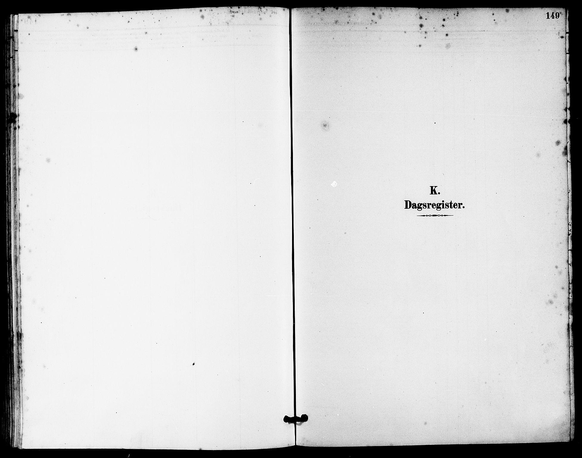 SAST, Håland sokneprestkontor, 30BA/L0010: Ministerialbok nr. A 9, 1883-1888, s. 149