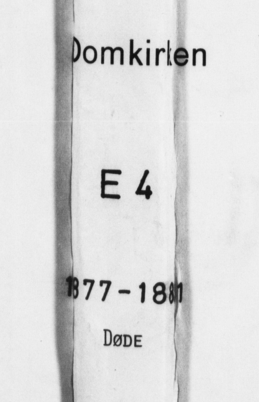 SAB, Domkirken Sokneprestembete, H/Haa: Ministerialbok nr. E 4, 1877-1881