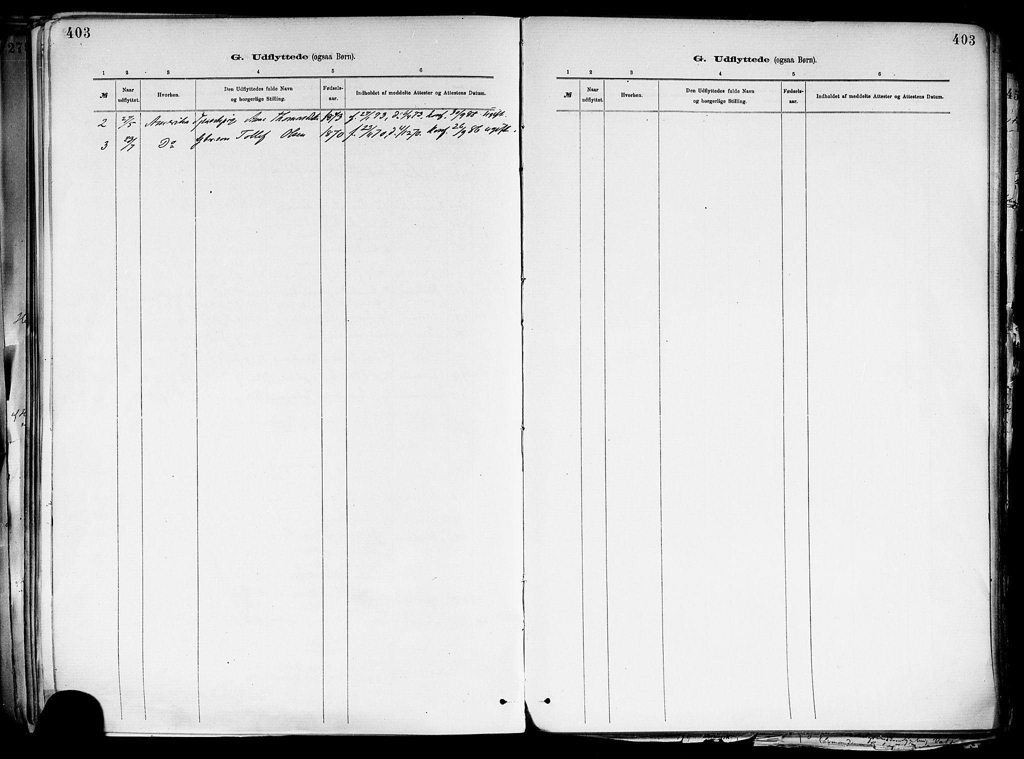 SAKO, Holla kirkebøker, F/Fa/L0008: Ministerialbok nr. 8, 1882-1897, s. 403