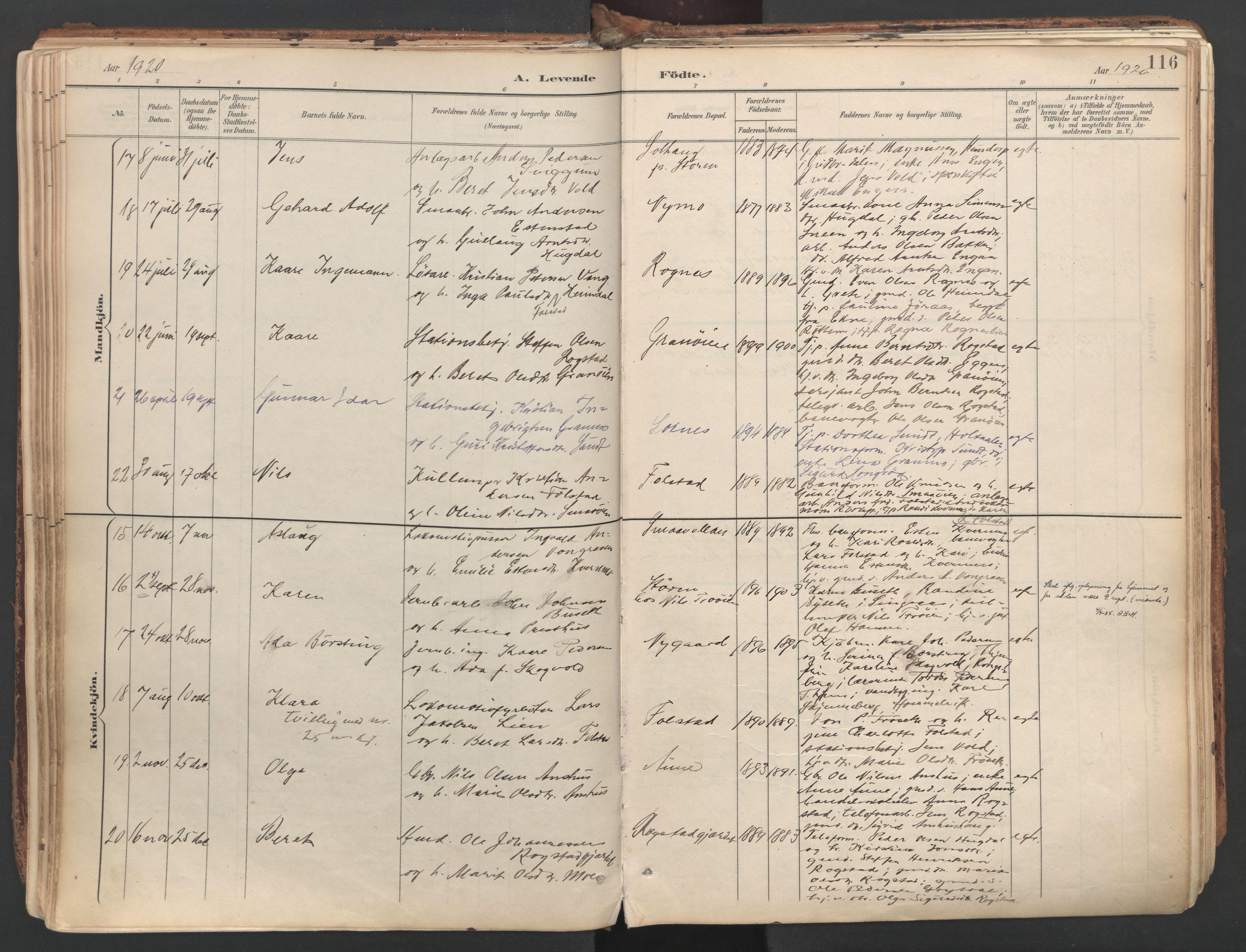 SAT, Ministerialprotokoller, klokkerbøker og fødselsregistre - Sør-Trøndelag, 687/L1004: Ministerialbok nr. 687A10, 1891-1923, s. 116