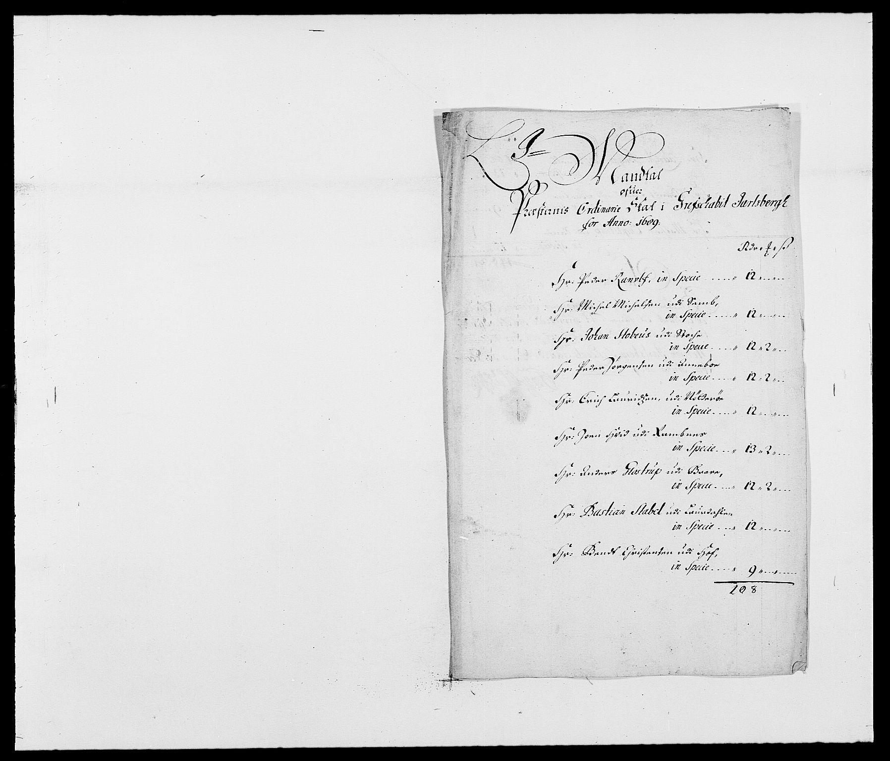RA, Rentekammeret inntil 1814, Reviderte regnskaper, Fogderegnskap, R32/L1860: Fogderegnskap Jarlsberg grevskap, 1686-1690, s. 368