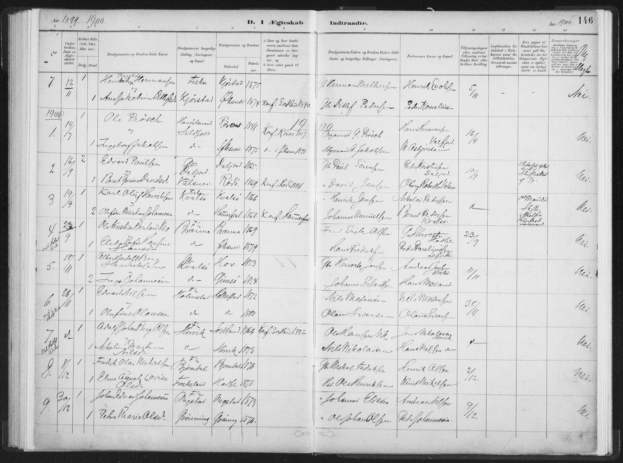 SAT, Ministerialprotokoller, klokkerbøker og fødselsregistre - Nordland, 890/L1286: Ministerialbok nr. 890A01, 1882-1902, s. 146