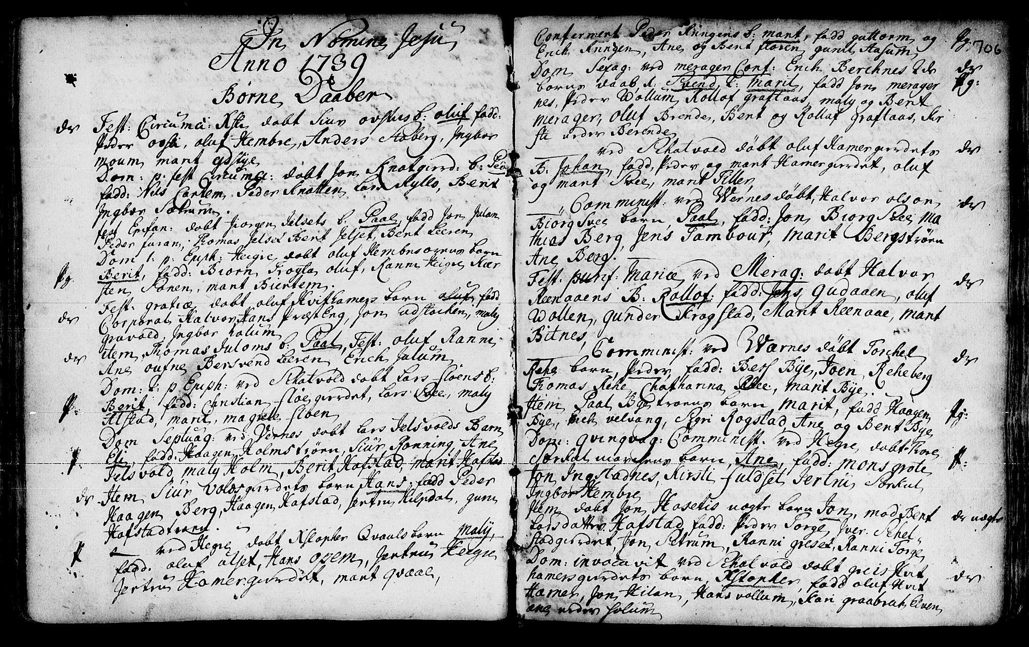 SAT, Ministerialprotokoller, klokkerbøker og fødselsregistre - Nord-Trøndelag, 709/L0055: Ministerialbok nr. 709A03, 1730-1739, s. 705-706