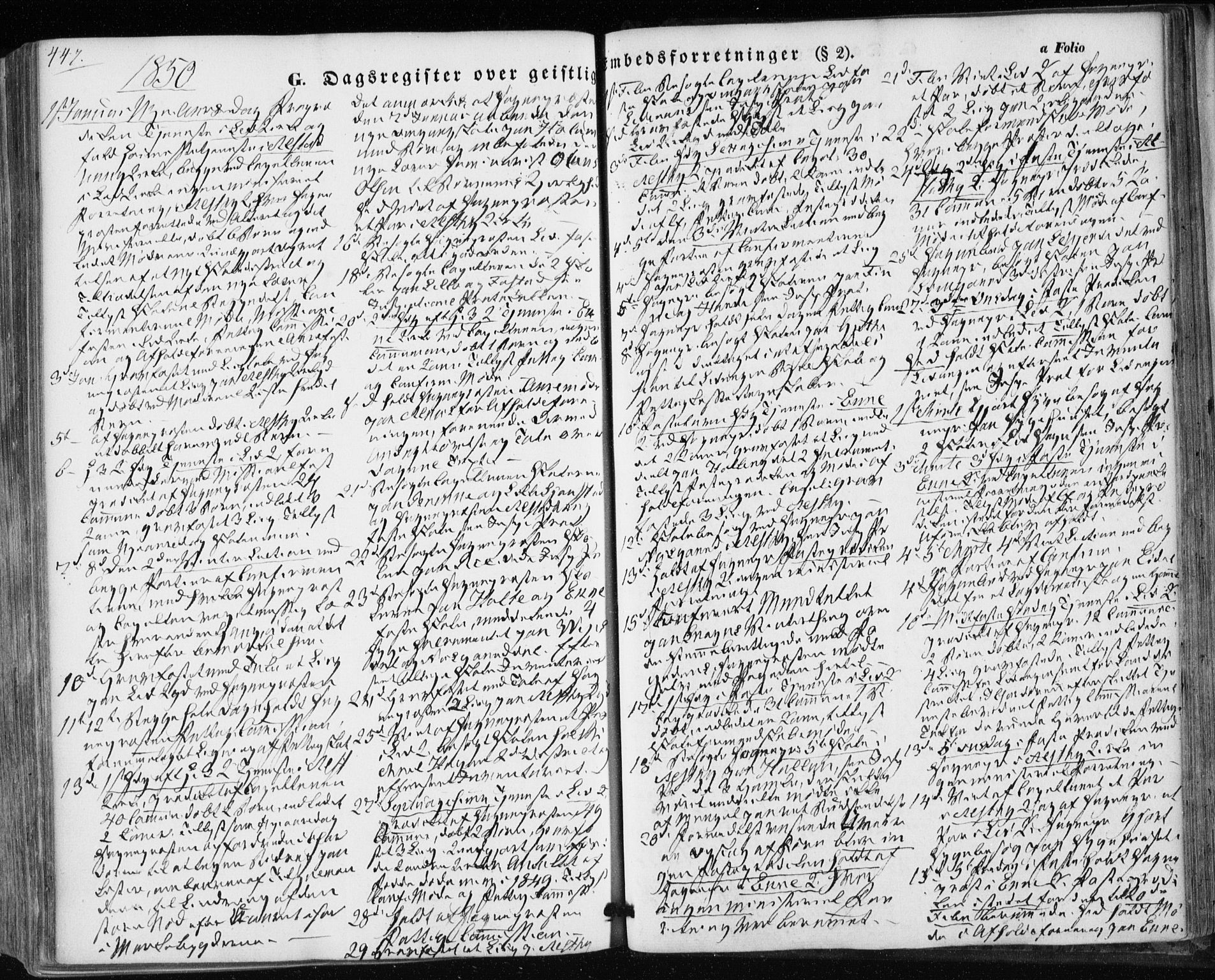 SAT, Ministerialprotokoller, klokkerbøker og fødselsregistre - Nord-Trøndelag, 717/L0154: Ministerialbok nr. 717A07 /1, 1850-1862, s. 447