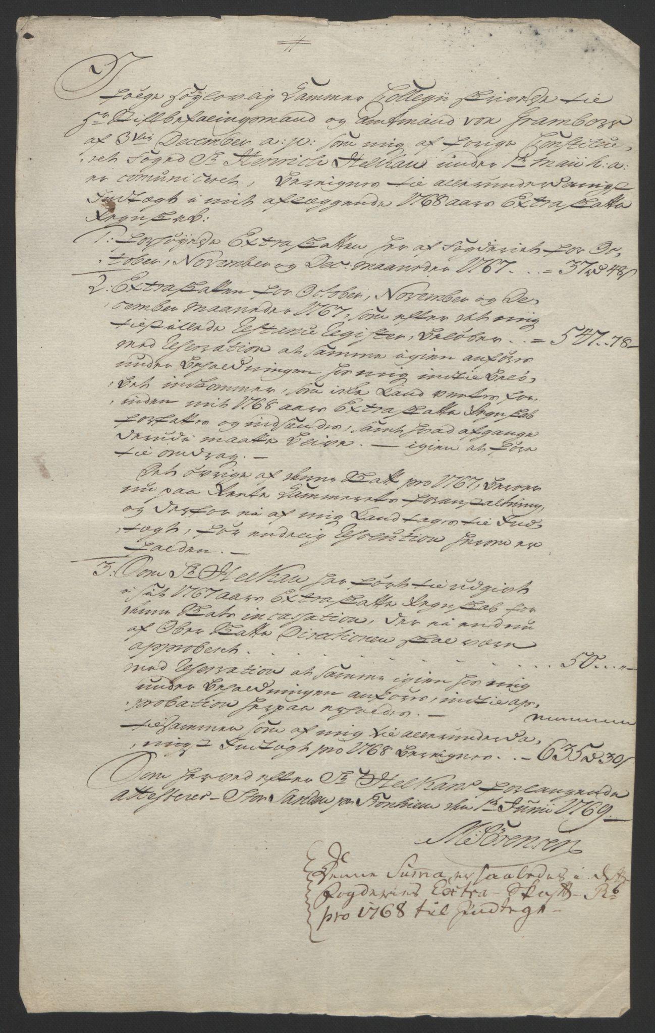 RA, Rentekammeret inntil 1814, Reviderte regnskaper, Fogderegnskap, R61/L4180: Ekstraskatten Strinda og Selbu, 1762-1767, s. 416