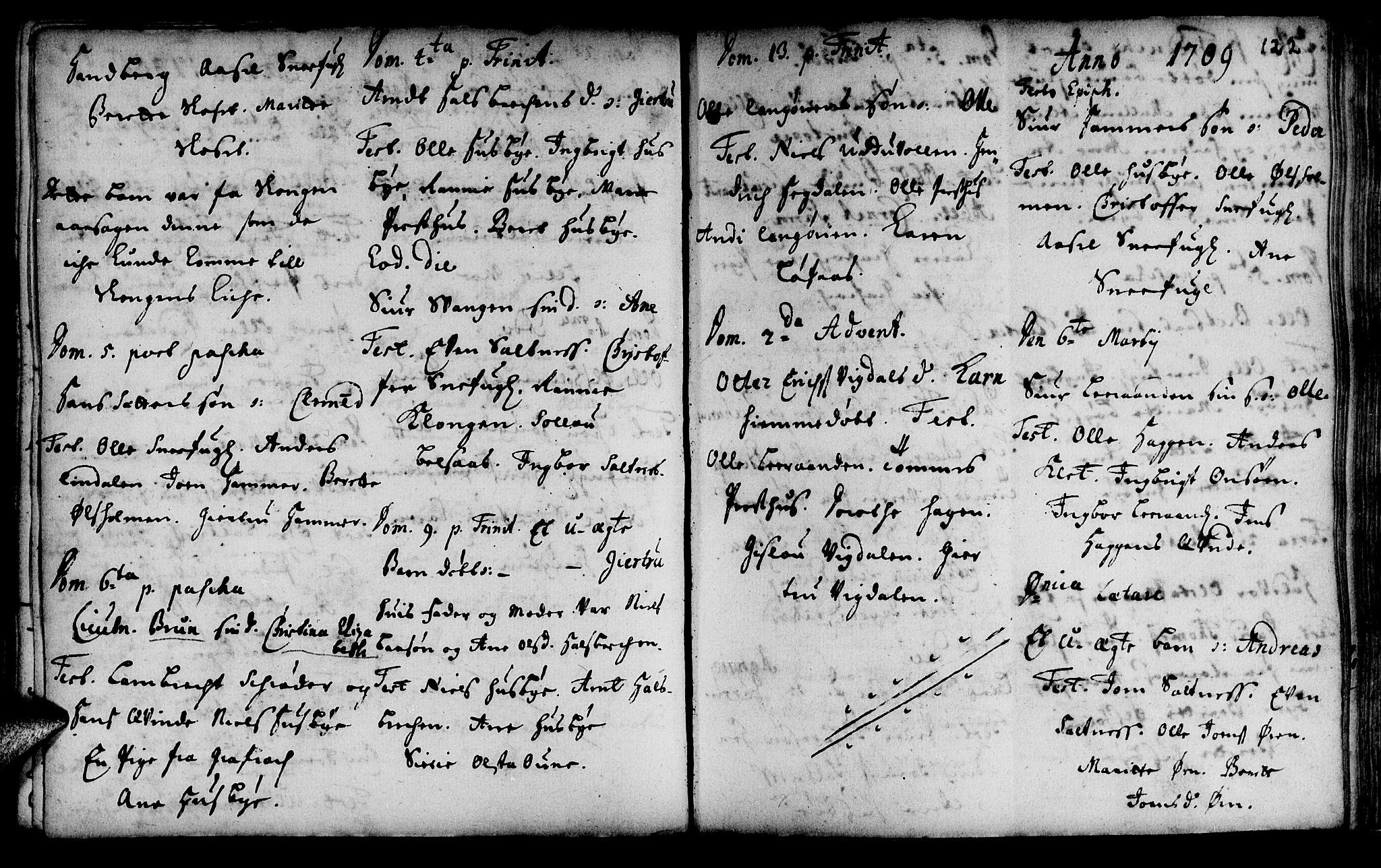 SAT, Ministerialprotokoller, klokkerbøker og fødselsregistre - Sør-Trøndelag, 666/L0783: Ministerialbok nr. 666A01, 1702-1753, s. 122