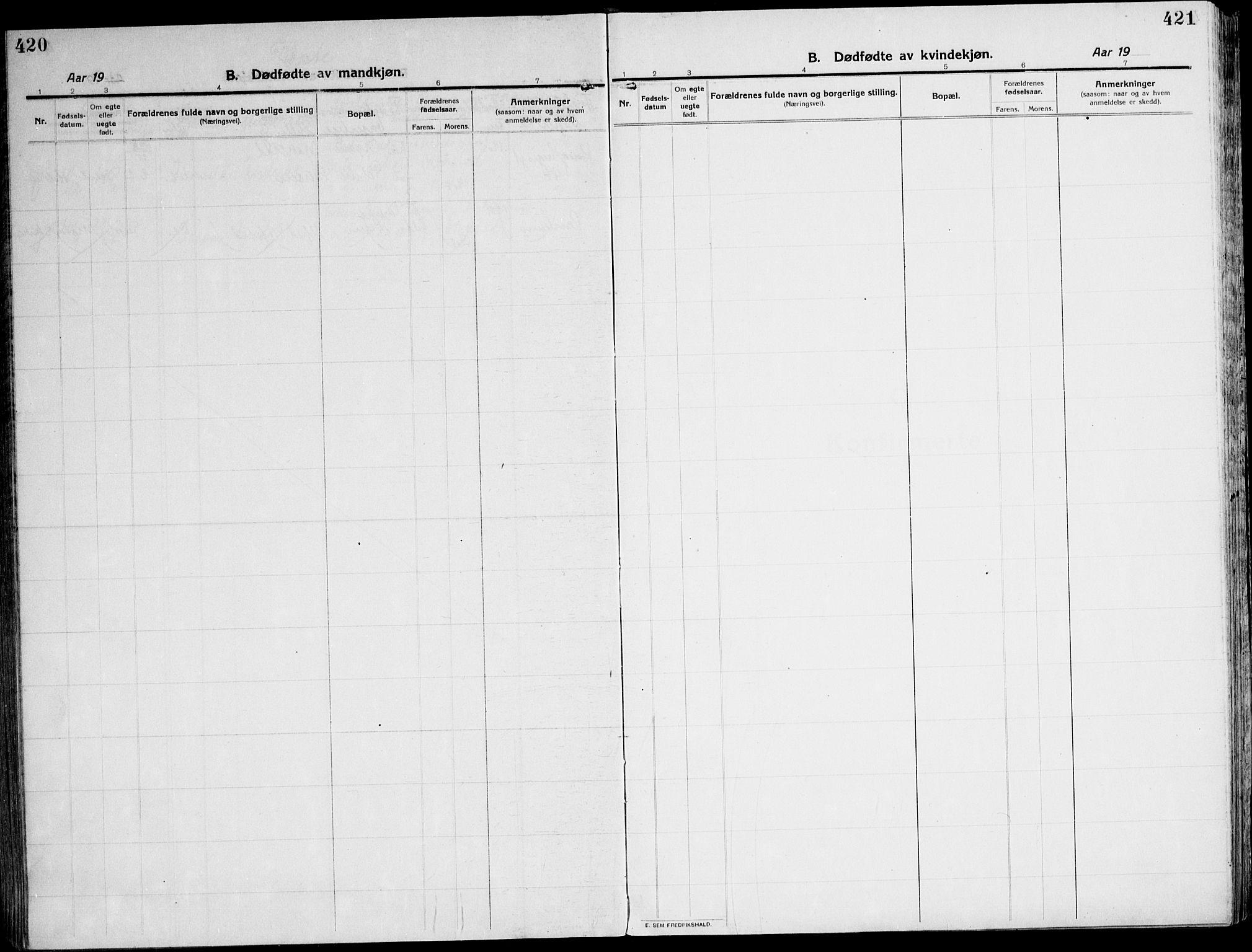 SAT, Ministerialprotokoller, klokkerbøker og fødselsregistre - Sør-Trøndelag, 607/L0321: Ministerialbok nr. 607A05, 1916-1935, s. 420-421