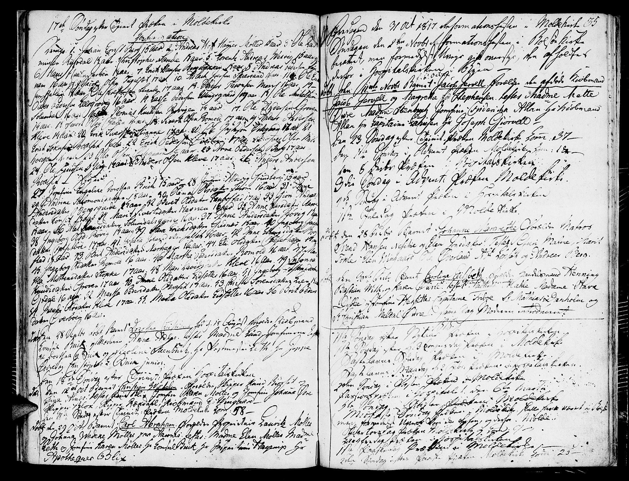 SAT, Ministerialprotokoller, klokkerbøker og fødselsregistre - Møre og Romsdal, 558/L0687: Ministerialbok nr. 558A01, 1798-1818, s. 35