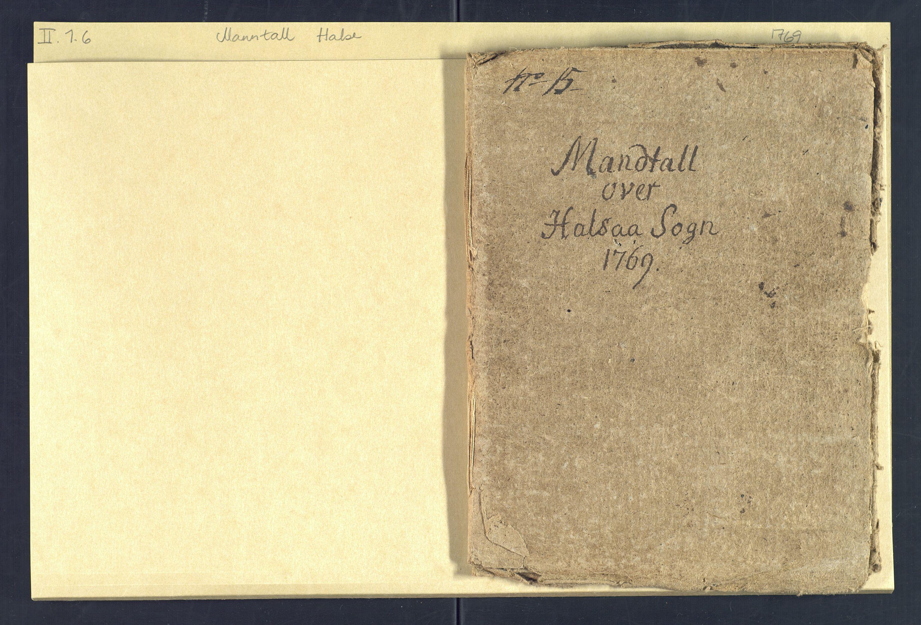 SAK, Holum sokneprestkontor, Andre øvrighetsfunksjoner, nr. 6: Manntall over alle mennesker som befant seg i Halse sokn 15. august 1769, 1769-1771, s. 1