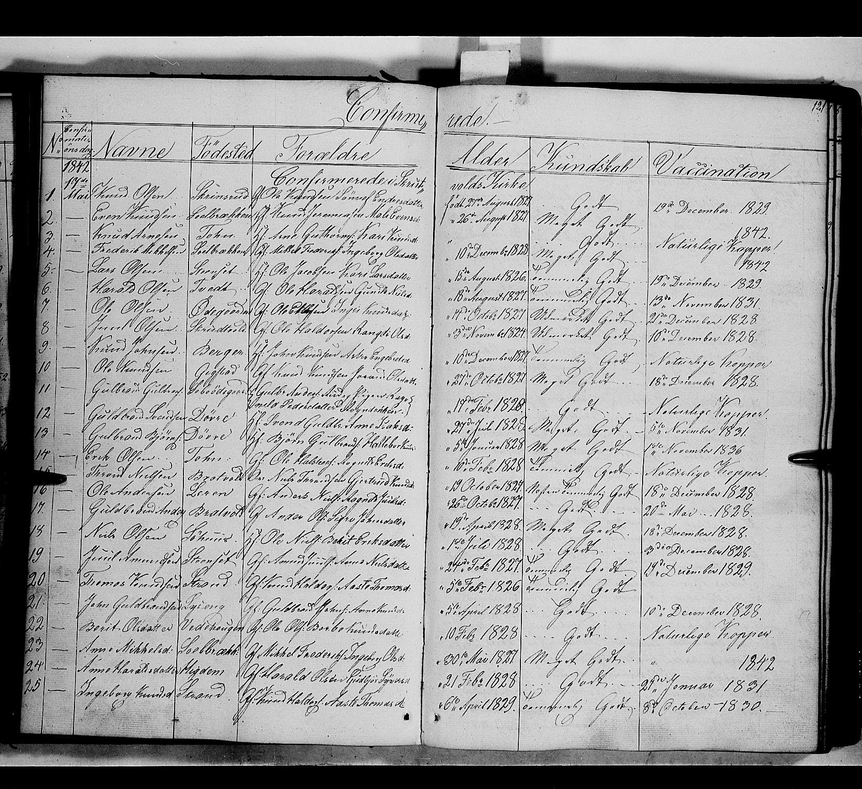 SAH, Nord-Aurdal prestekontor, Ministerialbok nr. 7, 1842-1863, s. 121