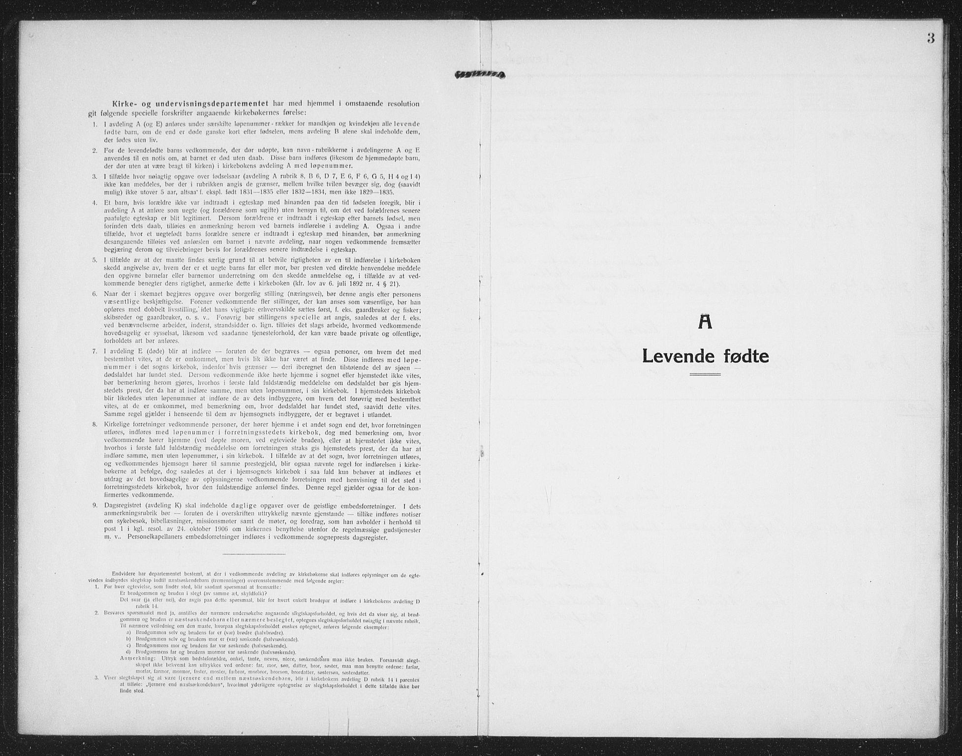 SAT, Ministerialprotokoller, klokkerbøker og fødselsregistre - Sør-Trøndelag, 659/L0750: Klokkerbok nr. 659C07, 1914-1940, s. 3