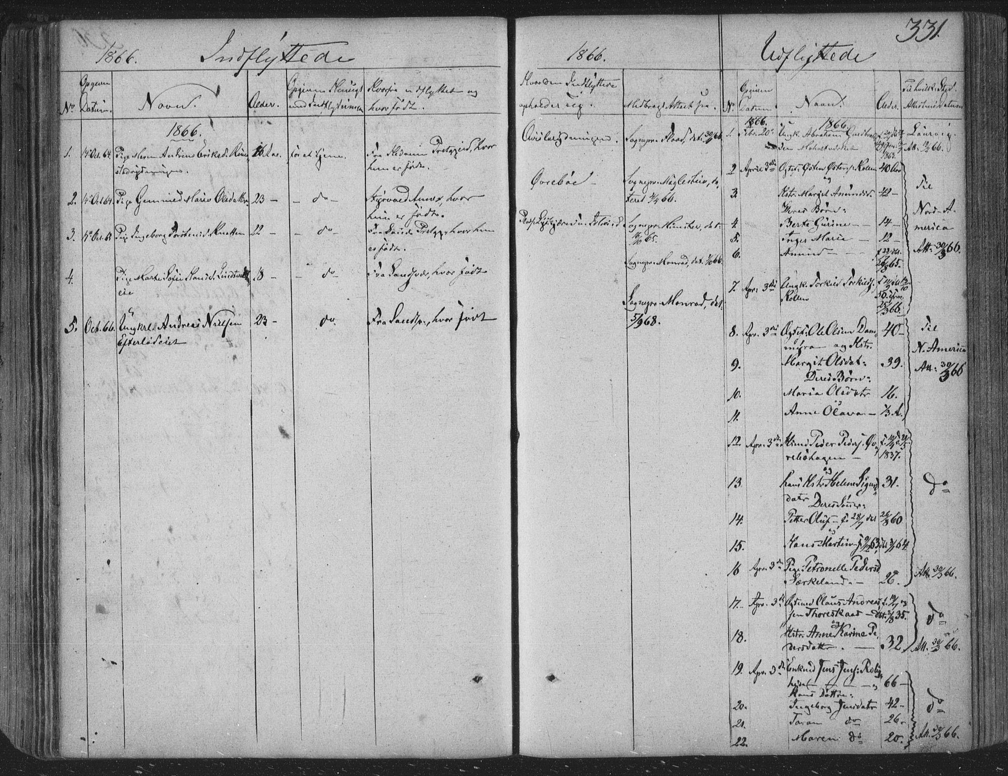 SAKO, Siljan kirkebøker, F/Fa/L0001: Ministerialbok nr. 1, 1831-1870, s. 331