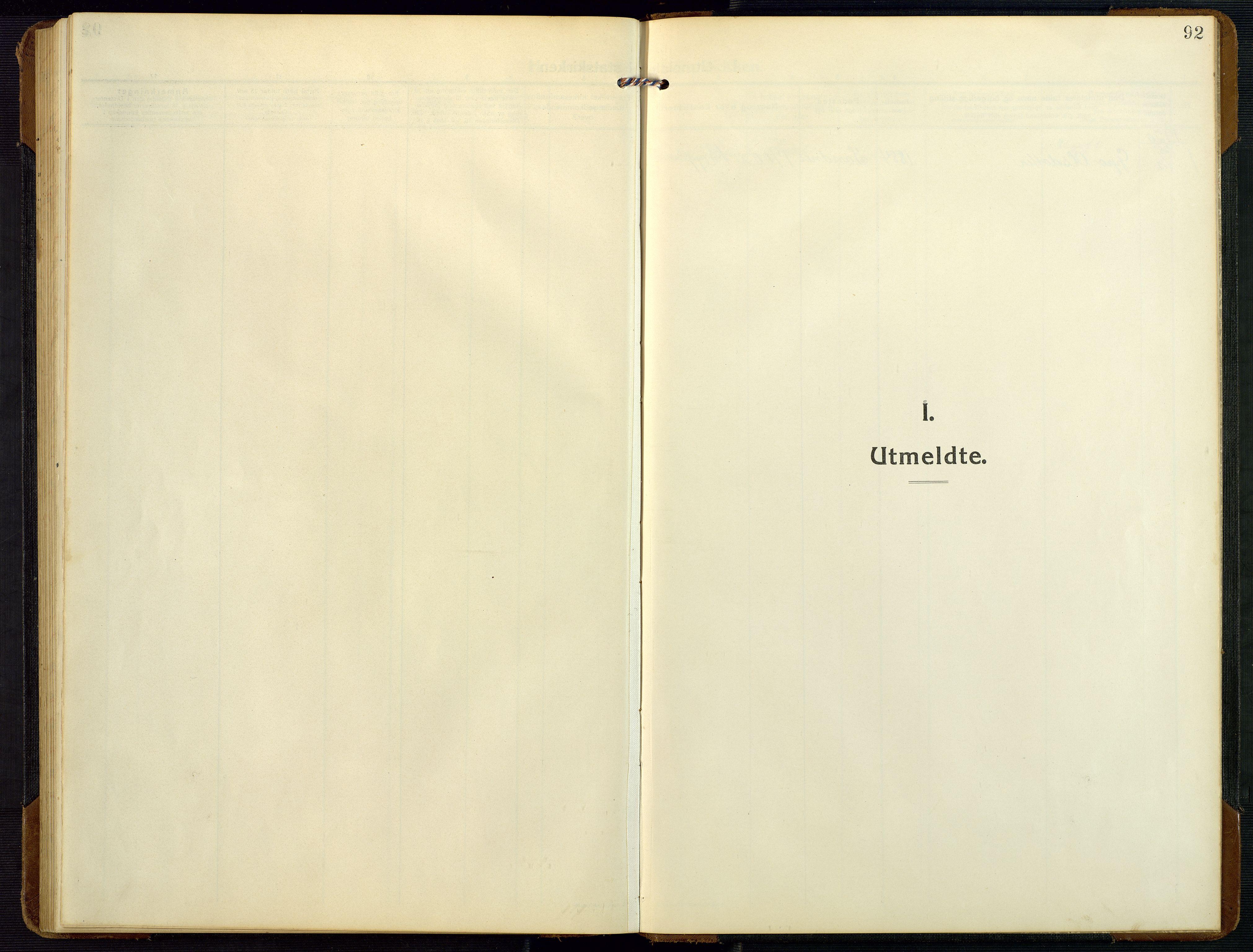 SAK, Bygland sokneprestkontor, F/Fb/Fbc/L0003: Klokkerbok nr. B 3, 1916-1975, s. 92