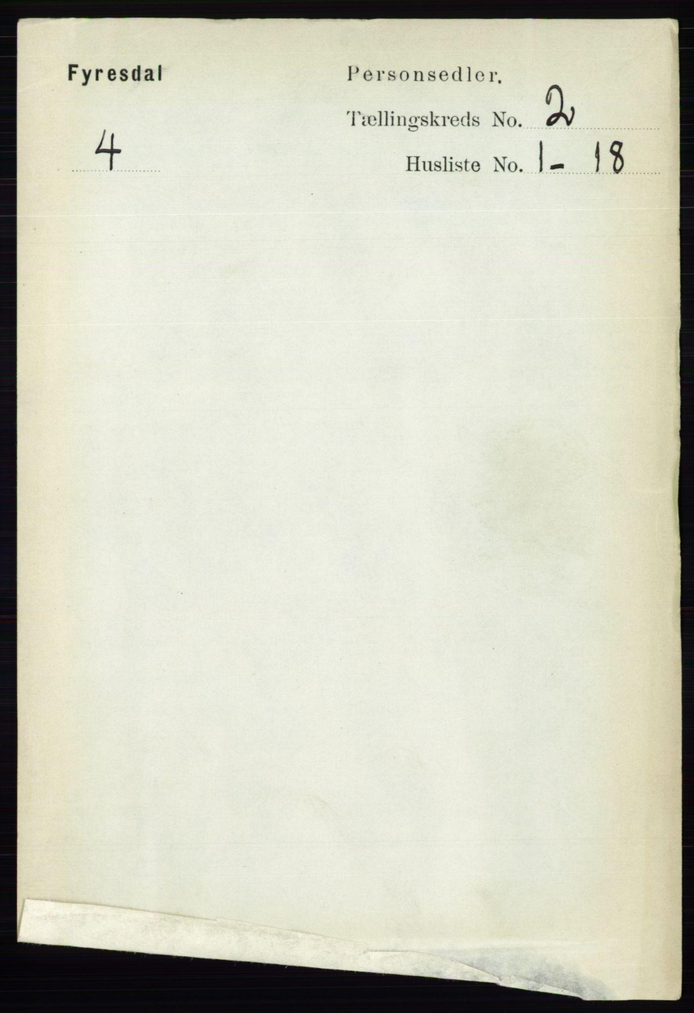 RA, Folketelling 1891 for 0831 Fyresdal herred, 1891, s. 295