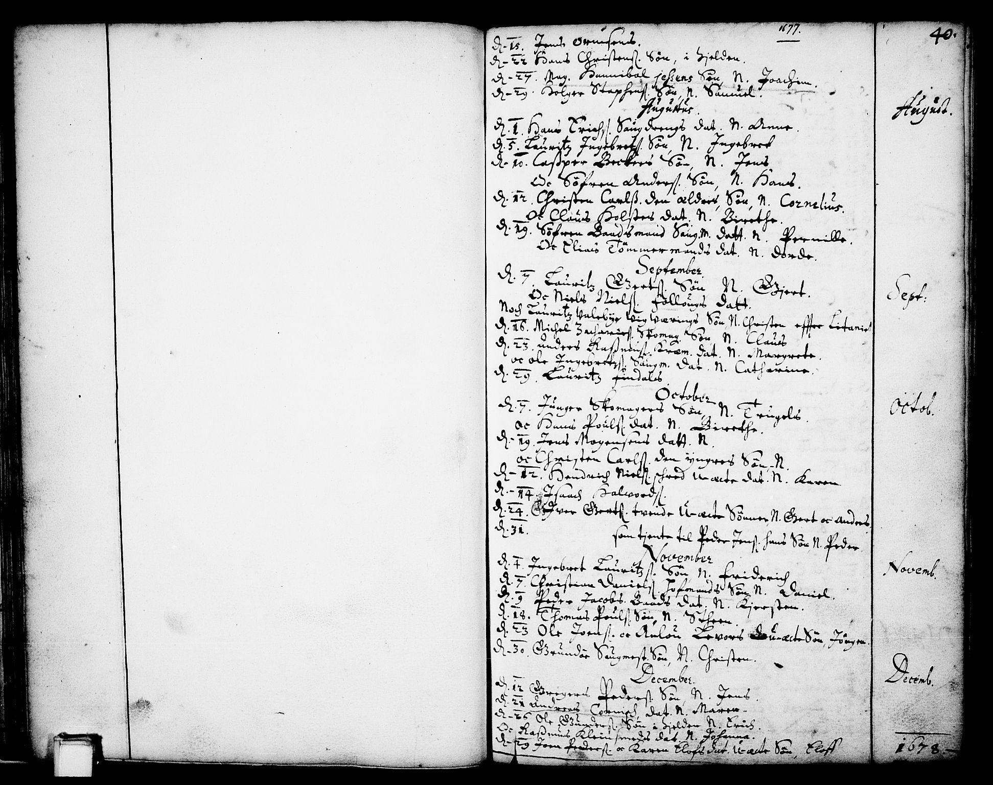 SAKO, Skien kirkebøker, F/Fa/L0001: Ministerialbok nr. 1, 1659-1679, s. 40