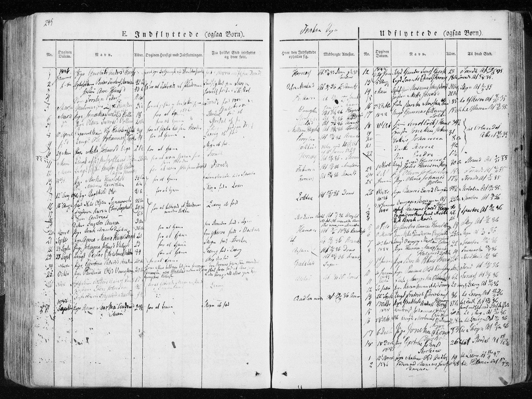 SAT, Ministerialprotokoller, klokkerbøker og fødselsregistre - Nord-Trøndelag, 713/L0114: Ministerialbok nr. 713A05, 1827-1839, s. 245