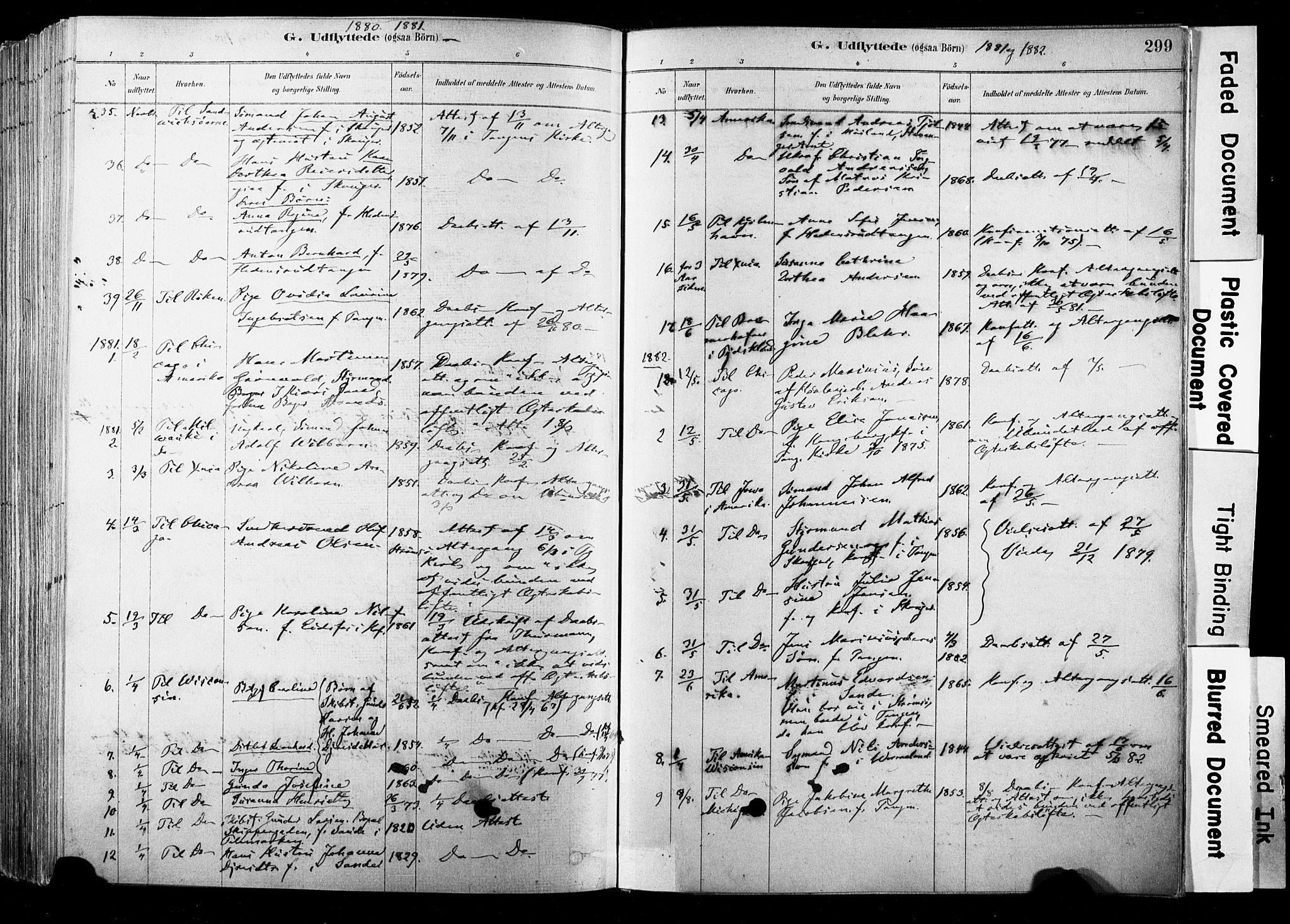 SAKO, Strømsø kirkebøker, F/Fb/L0006: Ministerialbok nr. II 6, 1879-1910, s. 299