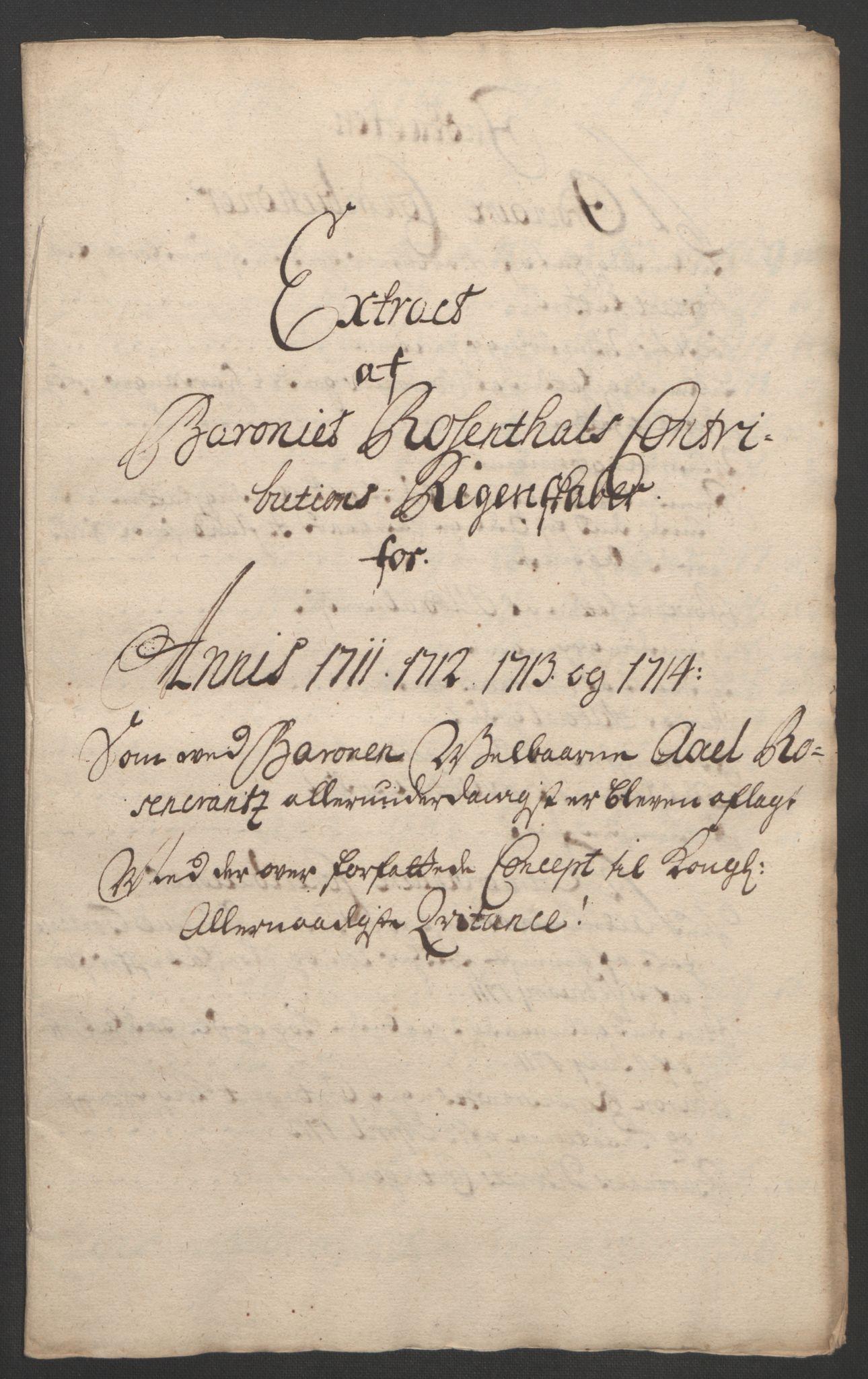 RA, Rentekammeret inntil 1814, Reviderte regnskaper, Fogderegnskap, R49/L3138: Fogderegnskap Rosendal Baroni, 1691-1714, s. 382