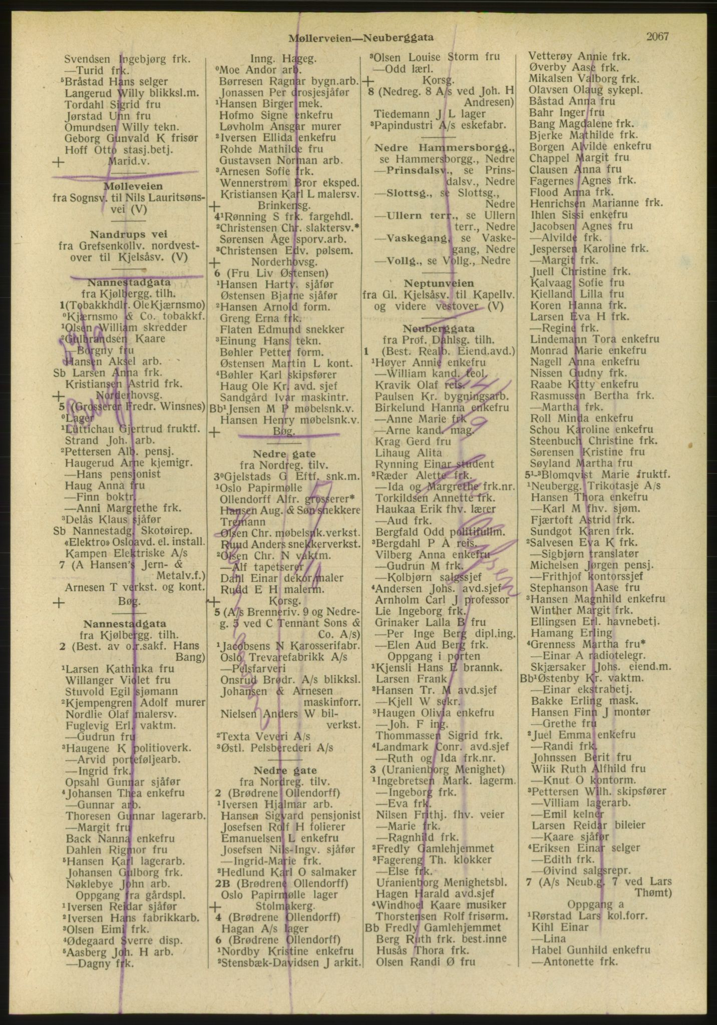 PUBL, Kristiania/Oslo adressebok, 1951, s. 2067