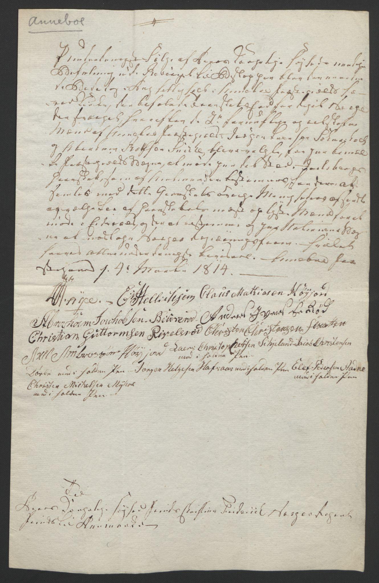 RA, Statsrådssekretariatet, D/Db/L0008: Fullmakter for Eidsvollsrepresentantene i 1814. , 1814, s. 6