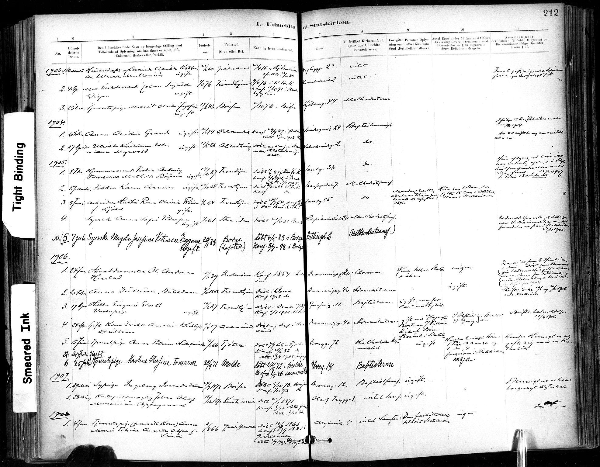 SAT, Ministerialprotokoller, klokkerbøker og fødselsregistre - Sør-Trøndelag, 602/L0120: Ministerialbok nr. 602A18, 1880-1913, s. 212