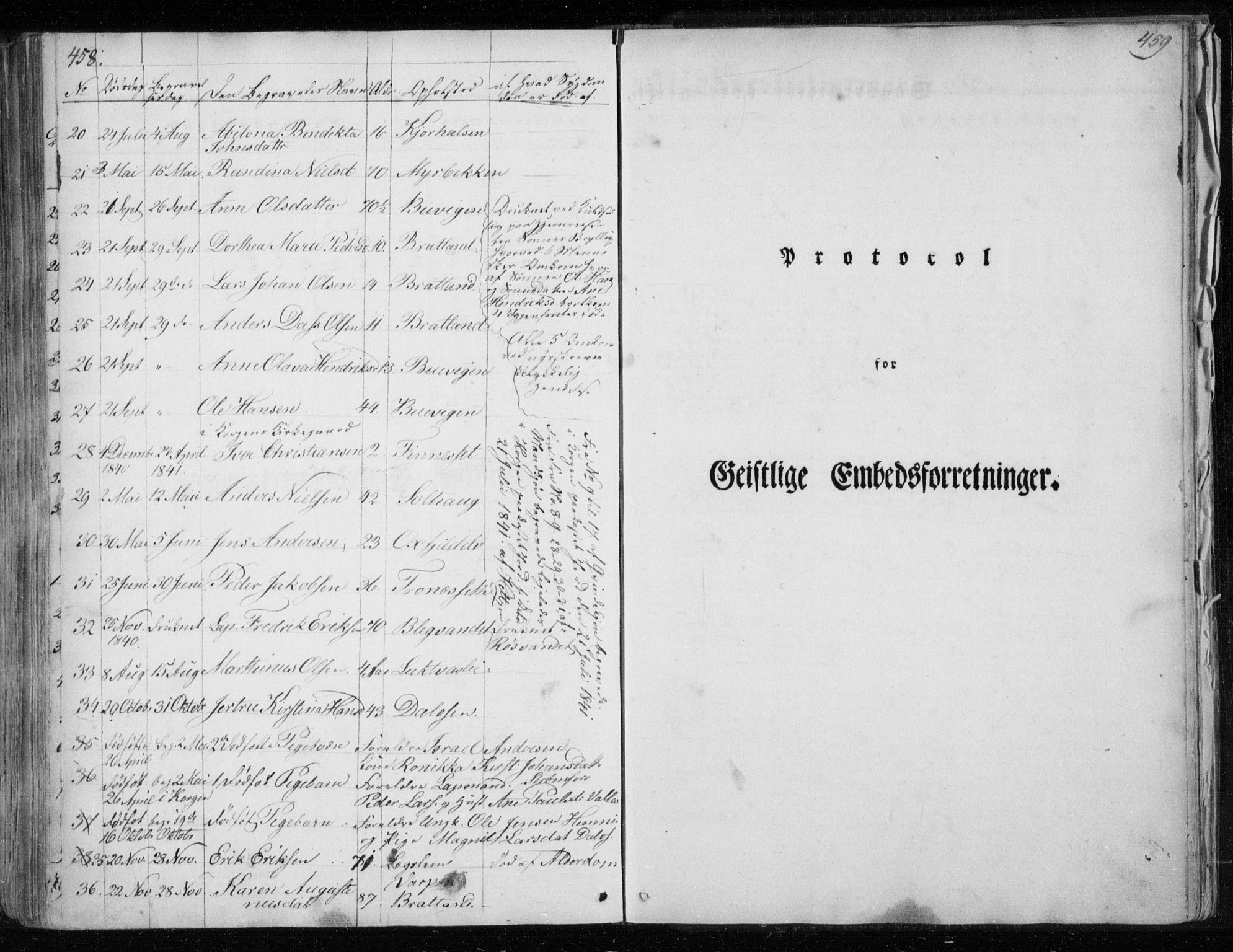 SAT, Ministerialprotokoller, klokkerbøker og fødselsregistre - Nordland, 825/L0354: Ministerialbok nr. 825A08, 1826-1841, s. 458-459
