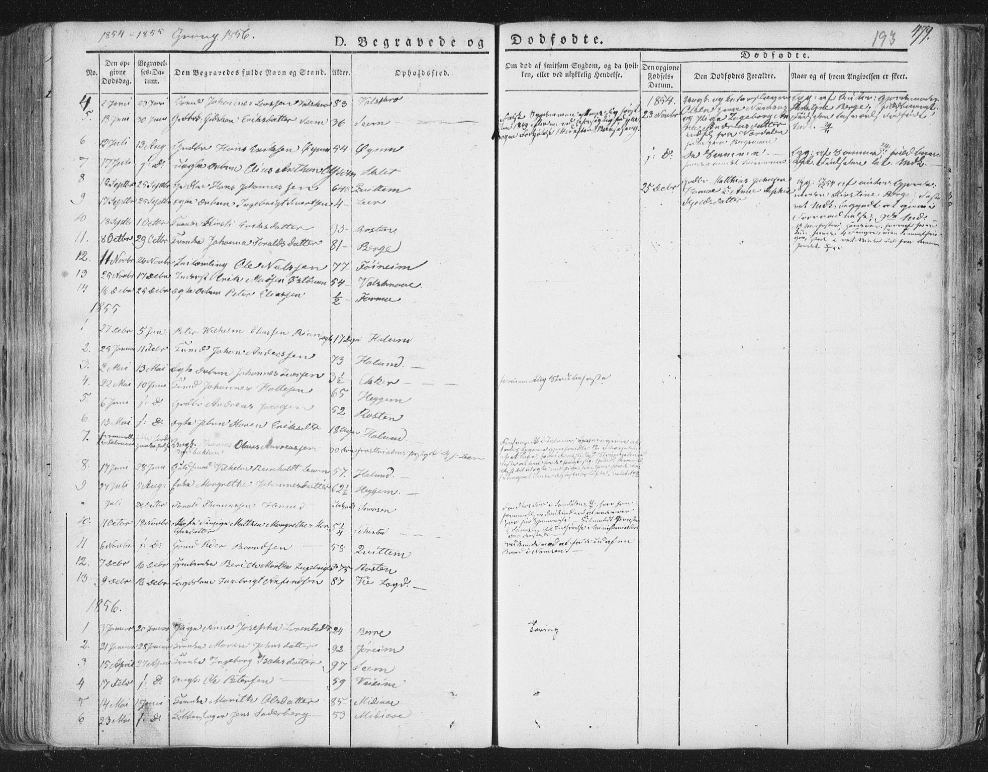 SAT, Ministerialprotokoller, klokkerbøker og fødselsregistre - Nord-Trøndelag, 758/L0513: Ministerialbok nr. 758A02 /1, 1839-1868, s. 193