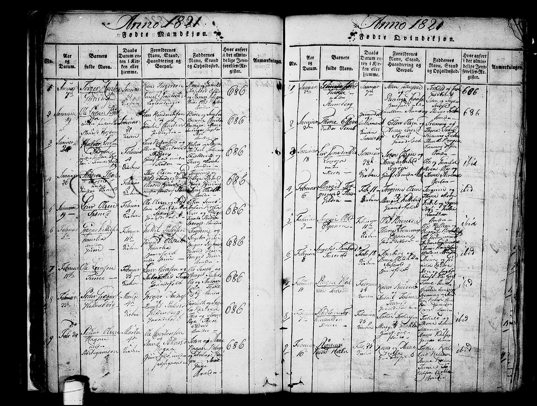SAKO, Heddal kirkebøker, F/Fa/L0005: Ministerialbok nr. I 5, 1814-1837, s. 73-74