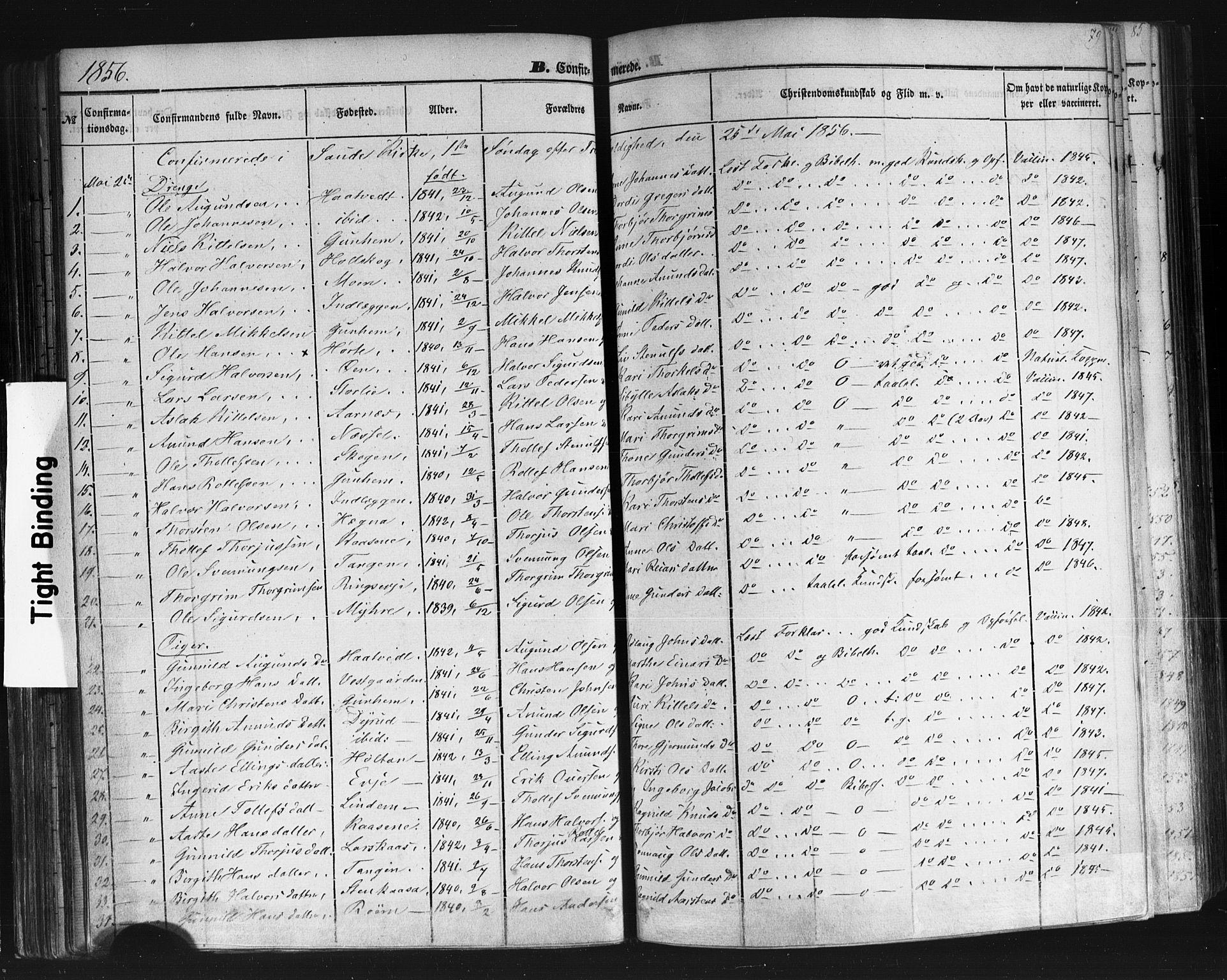 SAKO, Sauherad kirkebøker, F/Fb/L0001: Ministerialbok nr. II 1, 1851-1877, s. 79