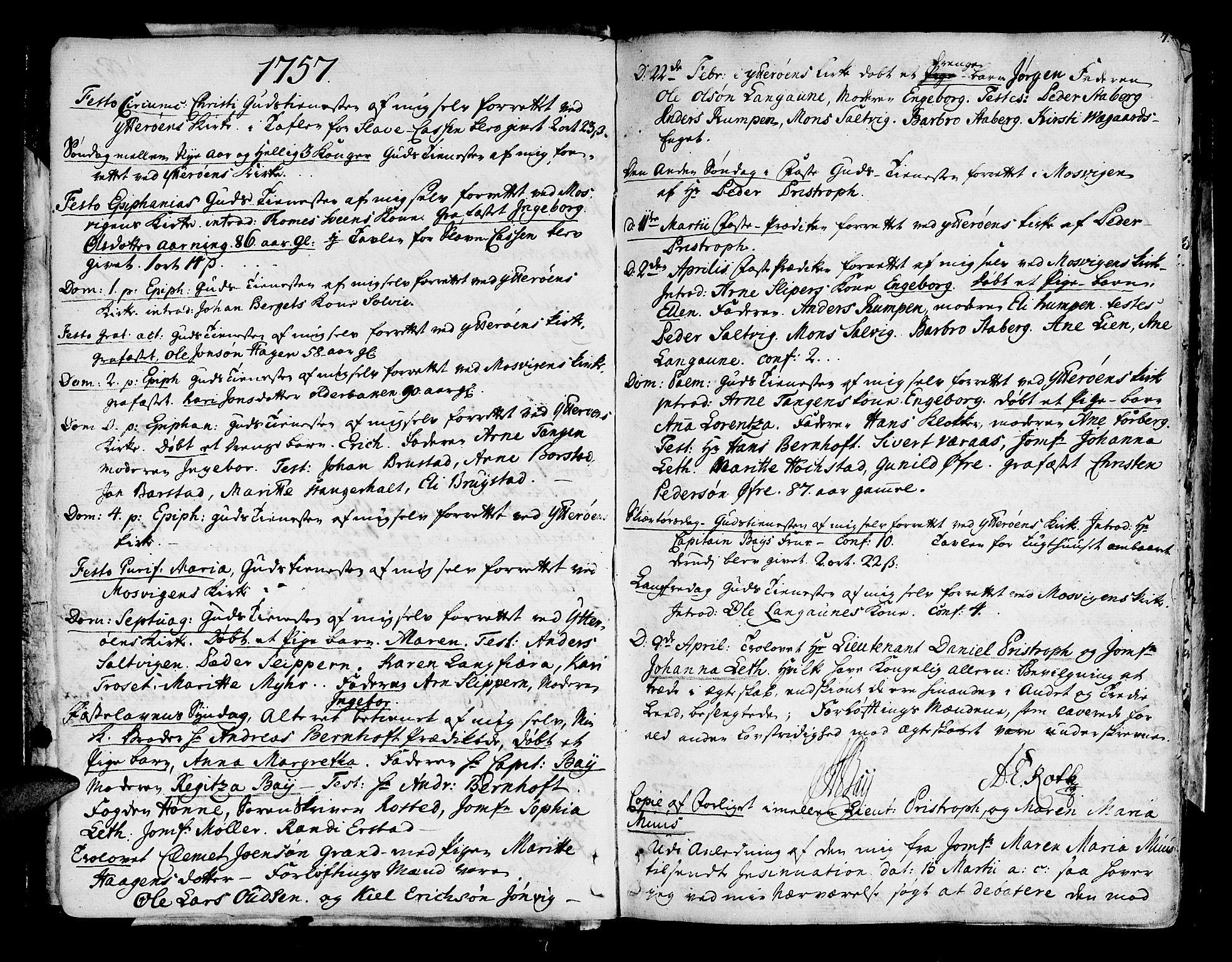 SAT, Ministerialprotokoller, klokkerbøker og fødselsregistre - Nord-Trøndelag, 722/L0216: Ministerialbok nr. 722A03, 1756-1816, s. 7