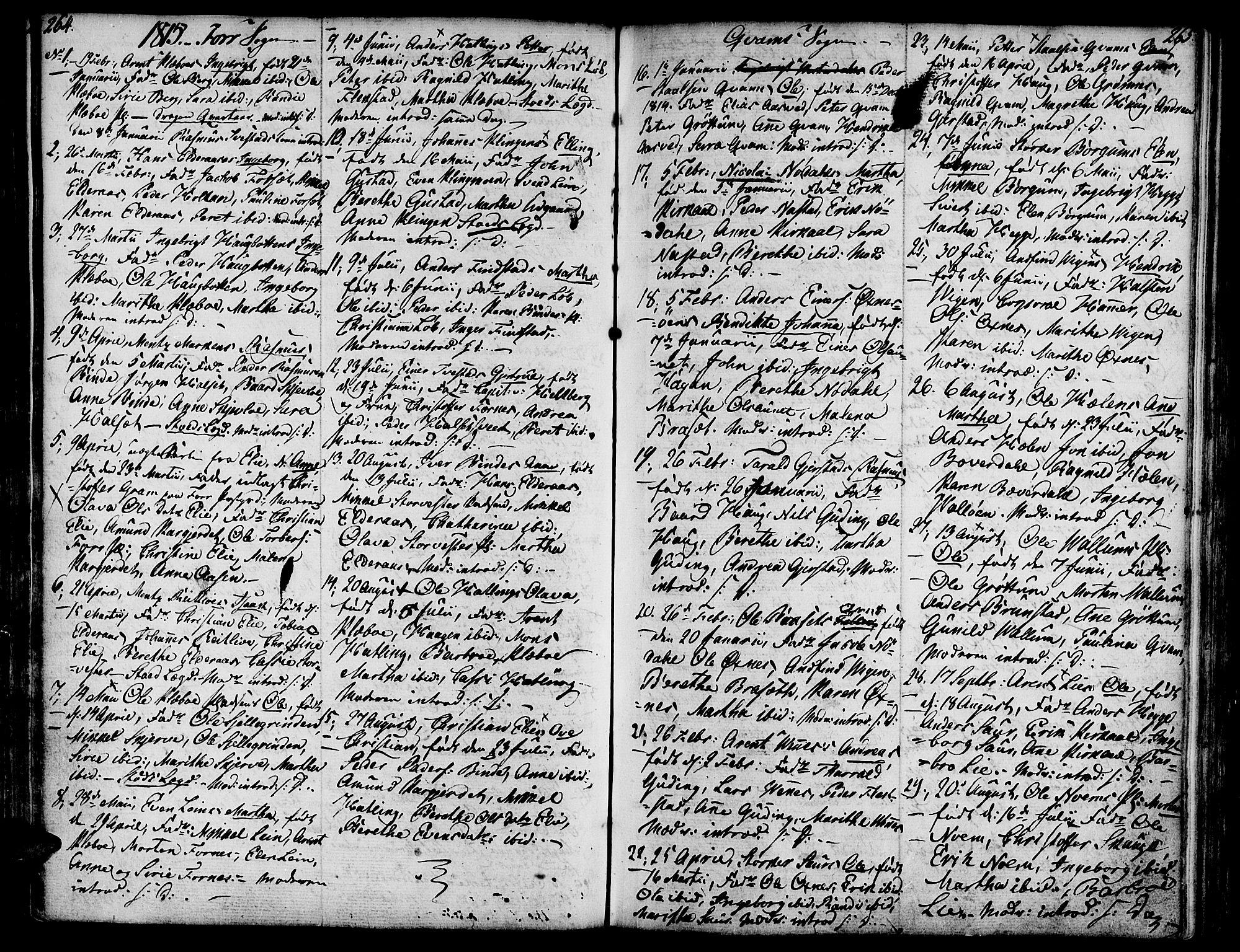 SAT, Ministerialprotokoller, klokkerbøker og fødselsregistre - Nord-Trøndelag, 746/L0440: Ministerialbok nr. 746A02, 1760-1815, s. 264-265