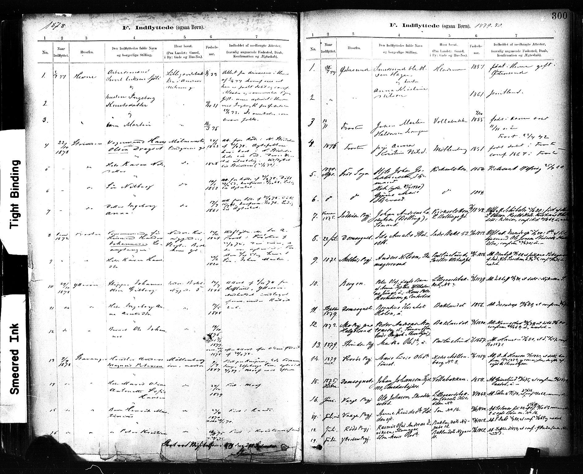 SAT, Ministerialprotokoller, klokkerbøker og fødselsregistre - Sør-Trøndelag, 604/L0189: Ministerialbok nr. 604A10, 1878-1892, s. 300