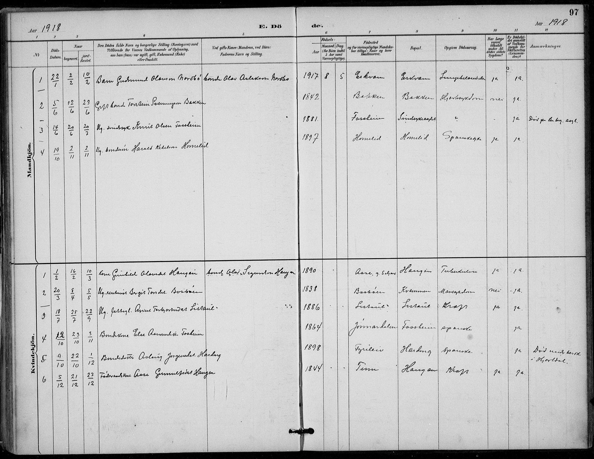 SAKO, Seljord kirkebøker, F/Fc/L0002: Ministerialbok nr. III 2, 1887-1920, s. 97