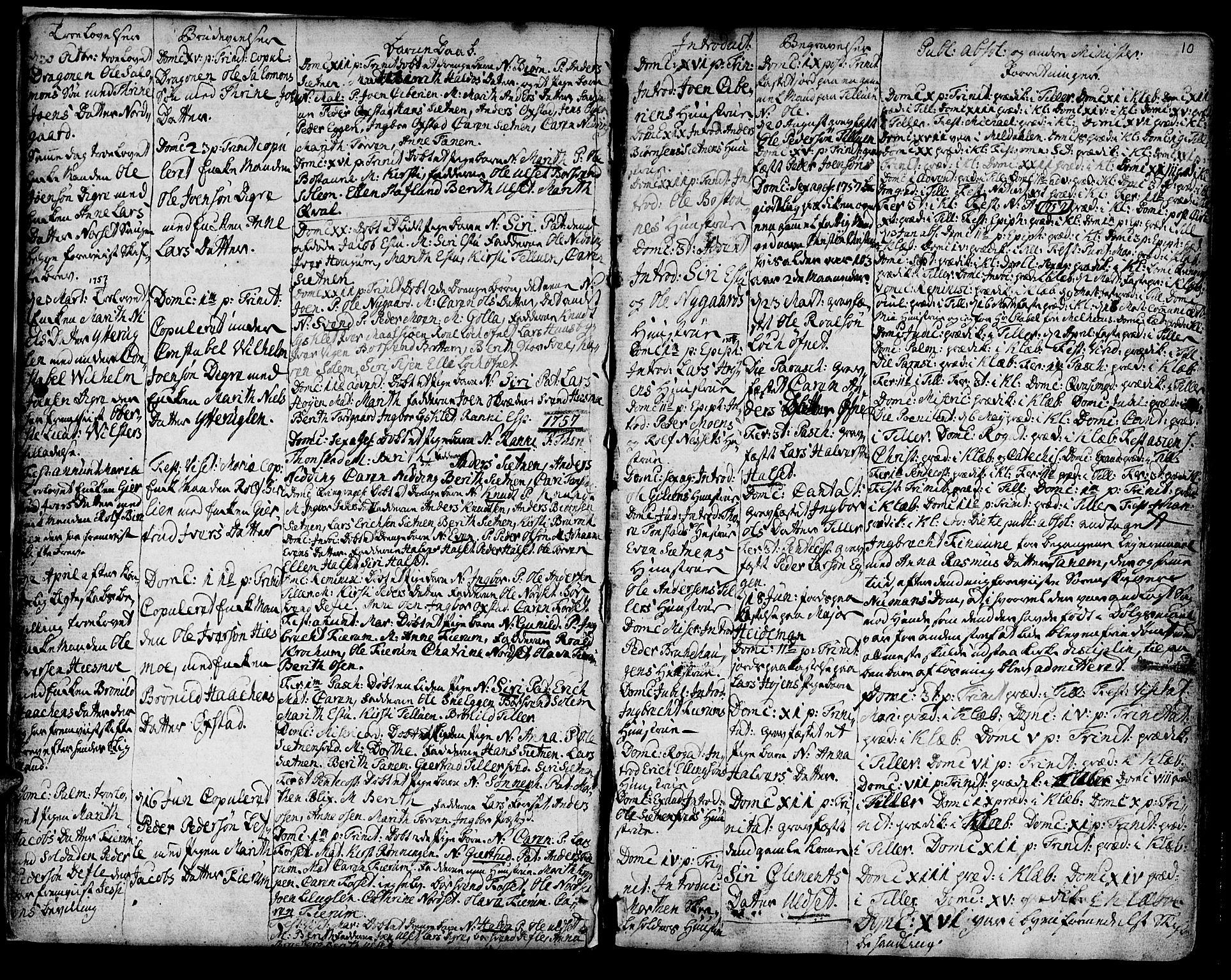 SAT, Ministerialprotokoller, klokkerbøker og fødselsregistre - Sør-Trøndelag, 618/L0437: Ministerialbok nr. 618A02, 1749-1782, s. 10